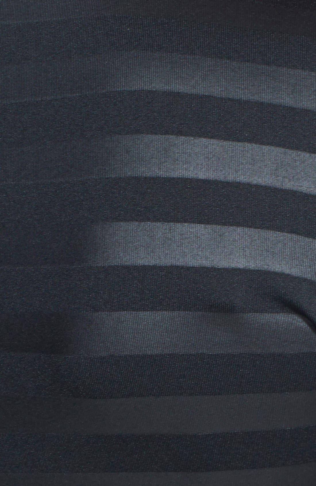 'Pro Hyperwarm' Embossed Stripe Half Zip Top,                             Alternate thumbnail 4, color,                             010