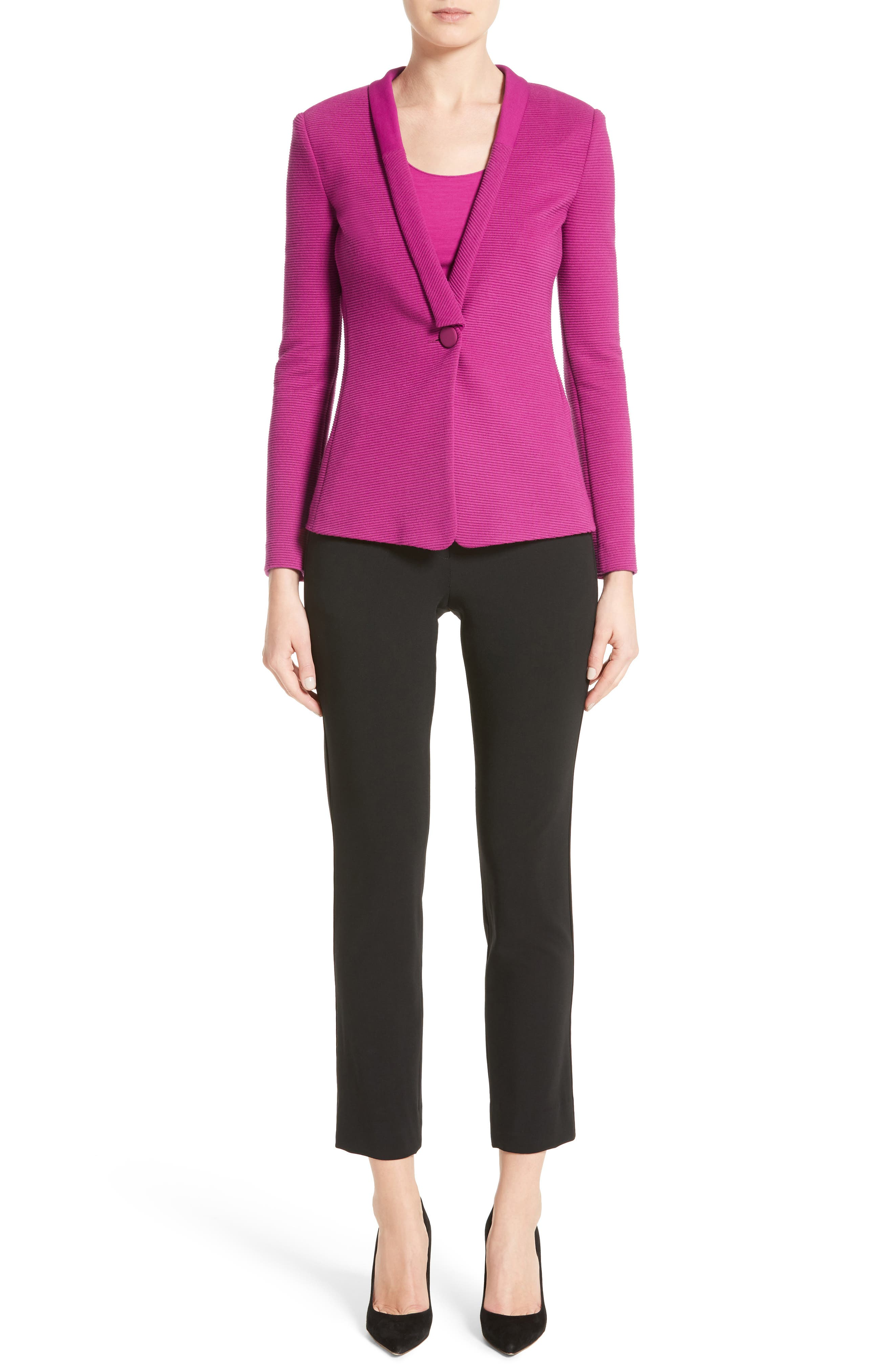Stretch Wool Pants,                             Alternate thumbnail 6, color,                             004
