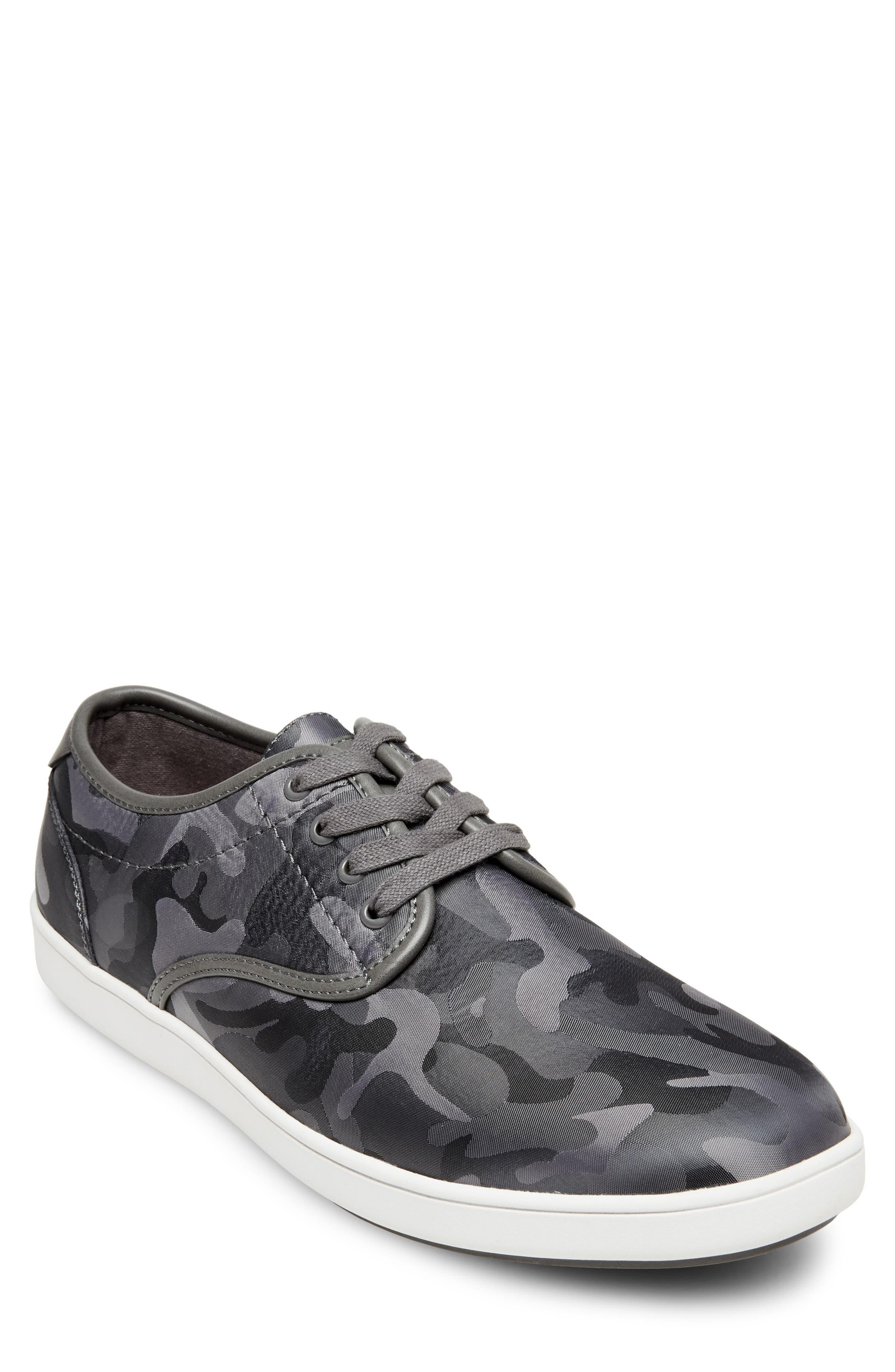 Frenzo Camo Sneaker,                         Main,                         color, GREY CAMO FABRIC