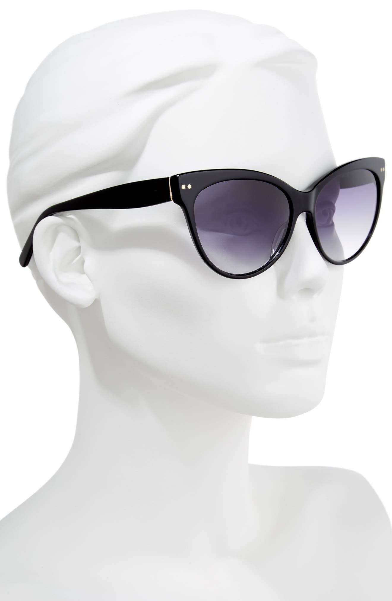 CHELSEA28,                             Audrey 60mm Cat Eye Sunglasses,                             Alternate thumbnail 2, color,                             001