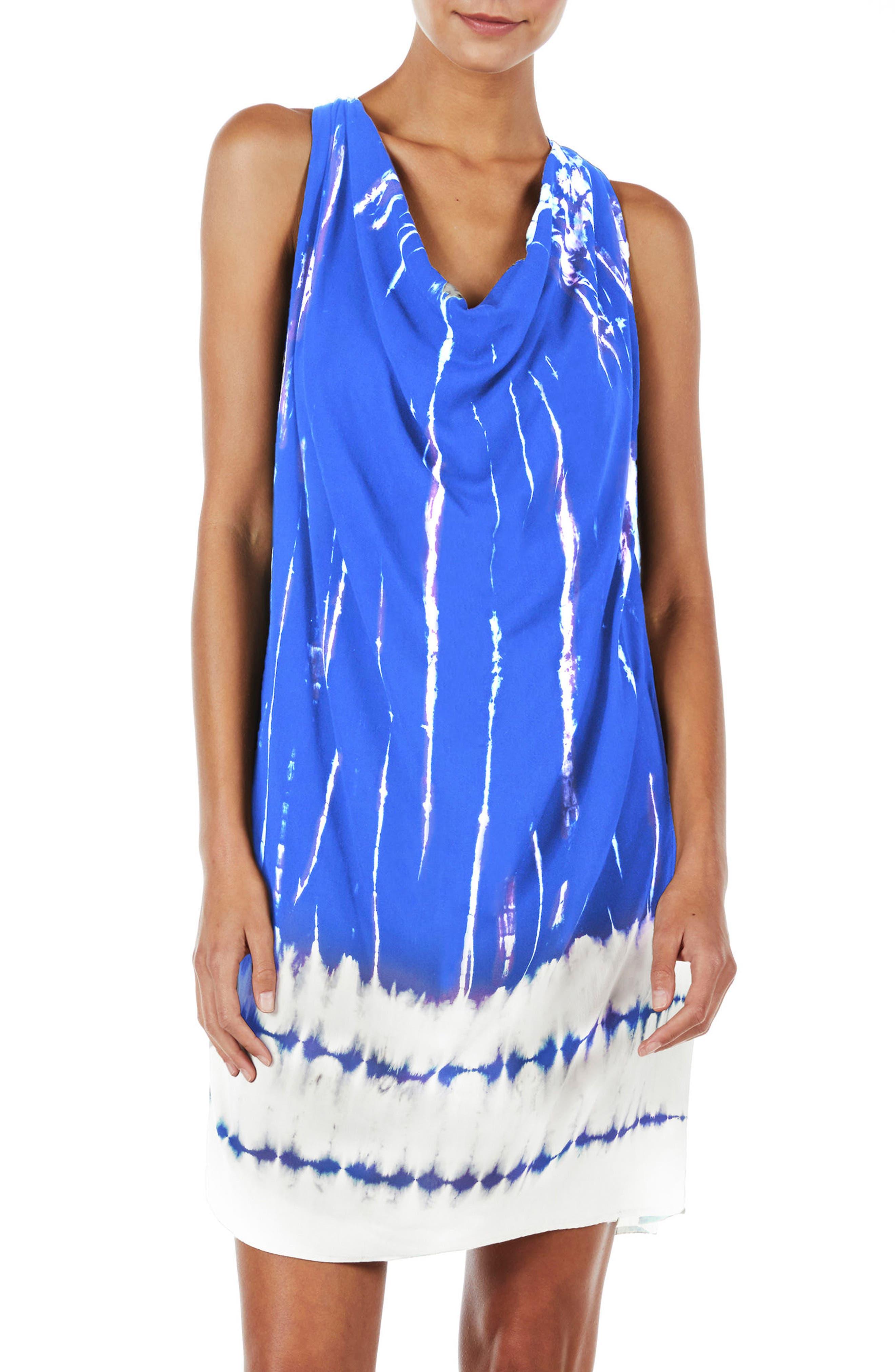 Tie Dye A-Line Dress,                             Main thumbnail 2, color,