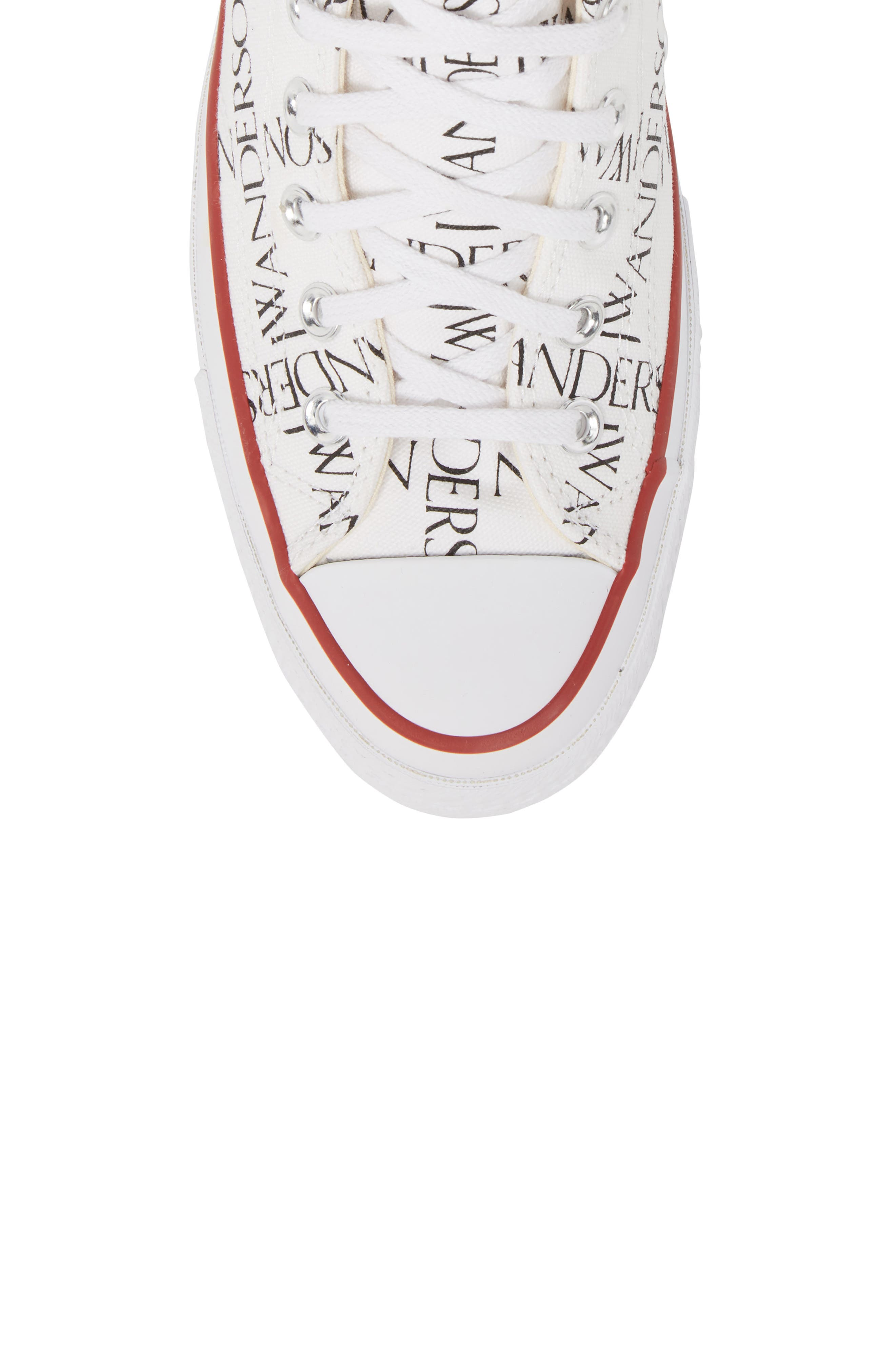x JW Anderson Chuck Taylor<sup>®</sup> All Star<sup>®</sup> 70 Grid Sneaker,                             Alternate thumbnail 5, color,                             WHITE CANVAS
