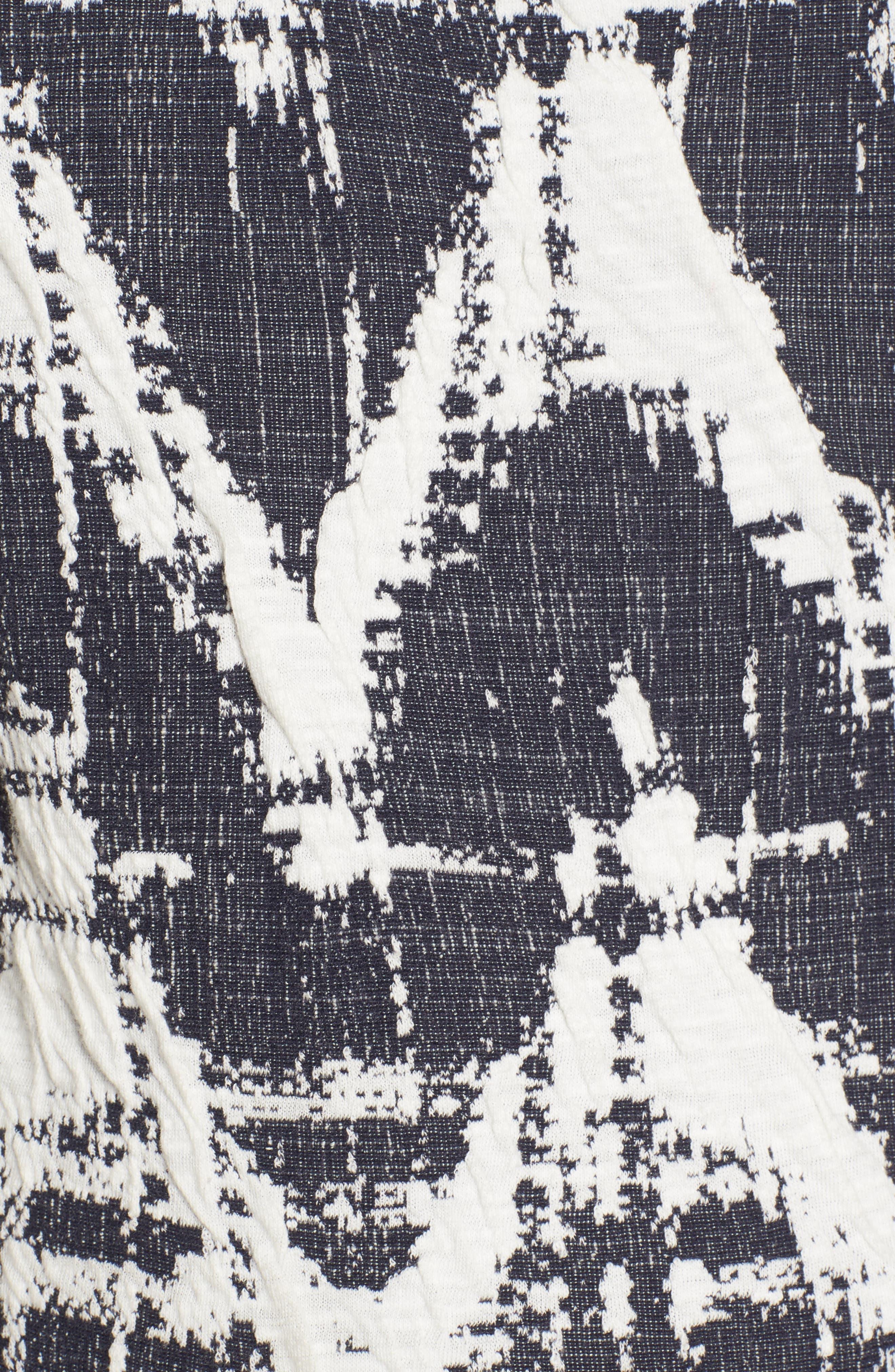Amelia Print Texture Knit Maternity Dress,                             Alternate thumbnail 5, color,                             410