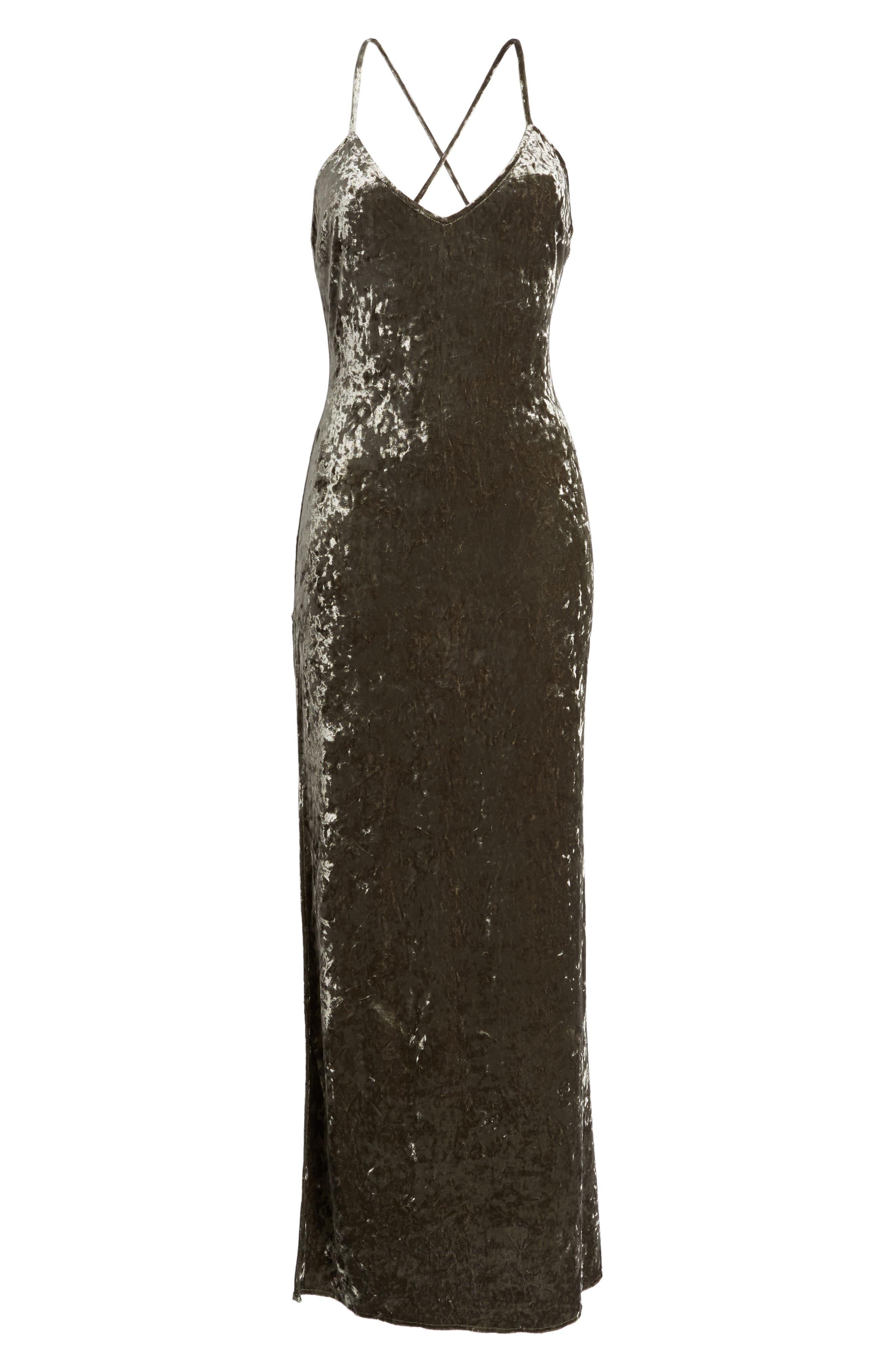 In the Deep Velvet Maxi Dress,                             Alternate thumbnail 6, color,                             020