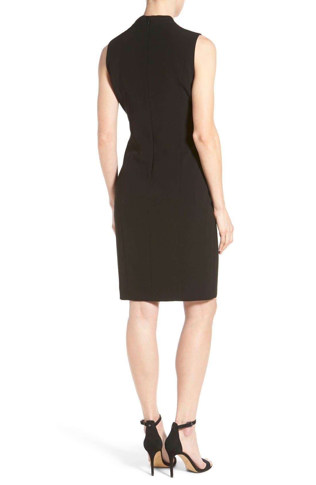 'Tonya' V-Neck Sheath Dress,                             Alternate thumbnail 3, color,