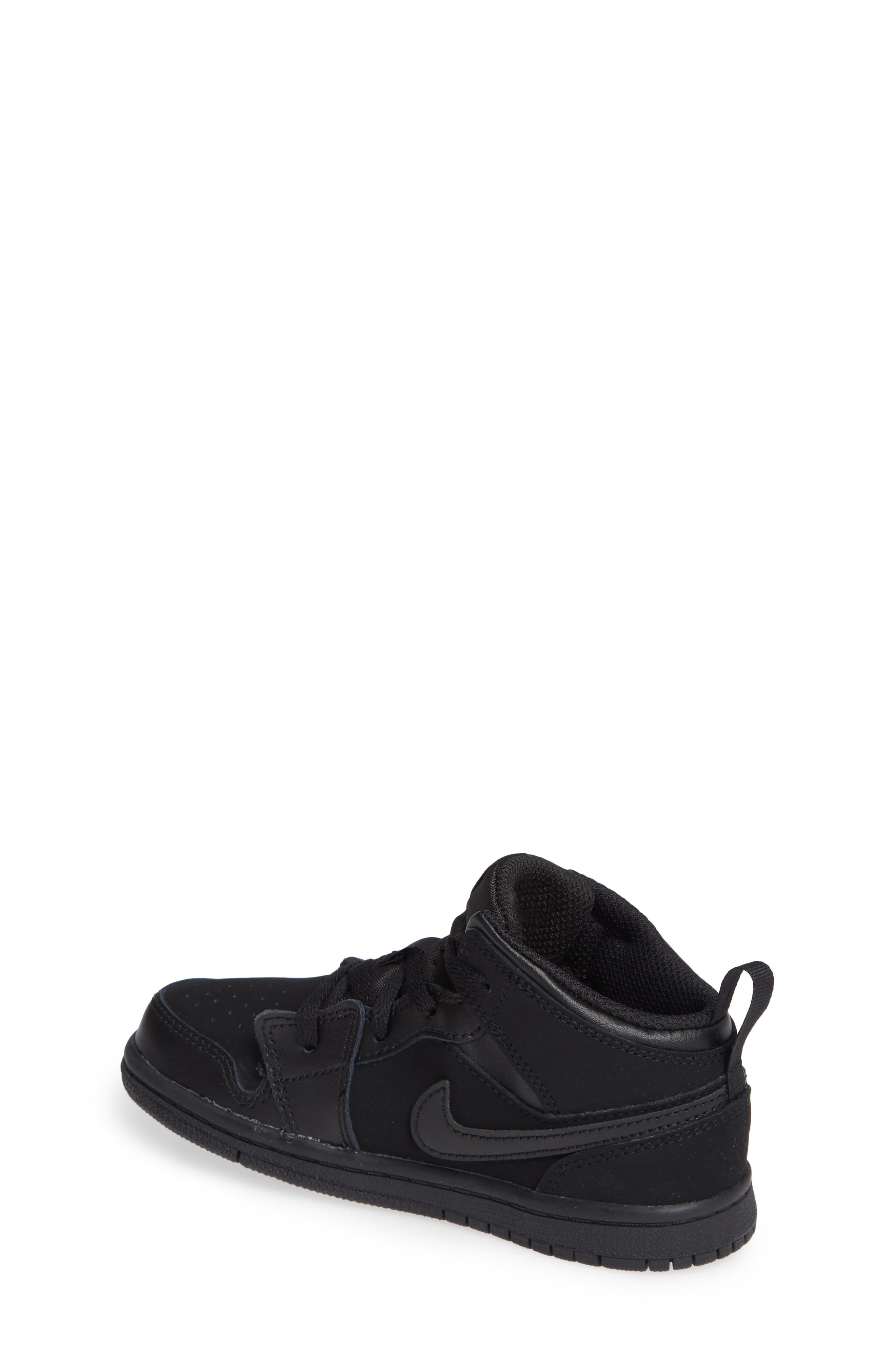 Nike 'Air Jordan 1 Mid' Sneaker,                             Alternate thumbnail 2, color,                             BLACK/ DARK GREY/ BLACK