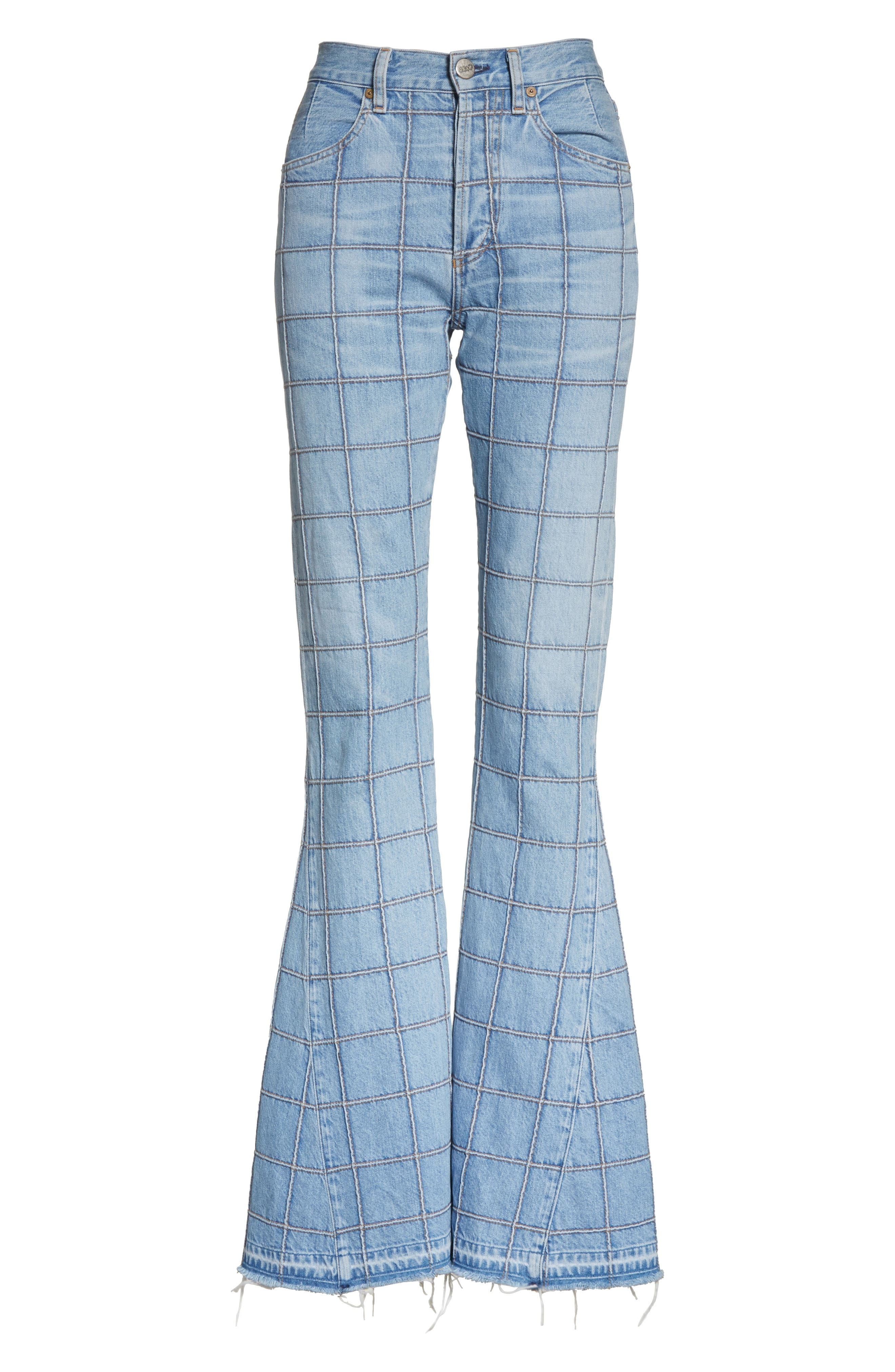 Janis High Rise Flare Jeans,                             Alternate thumbnail 6, color,                             457