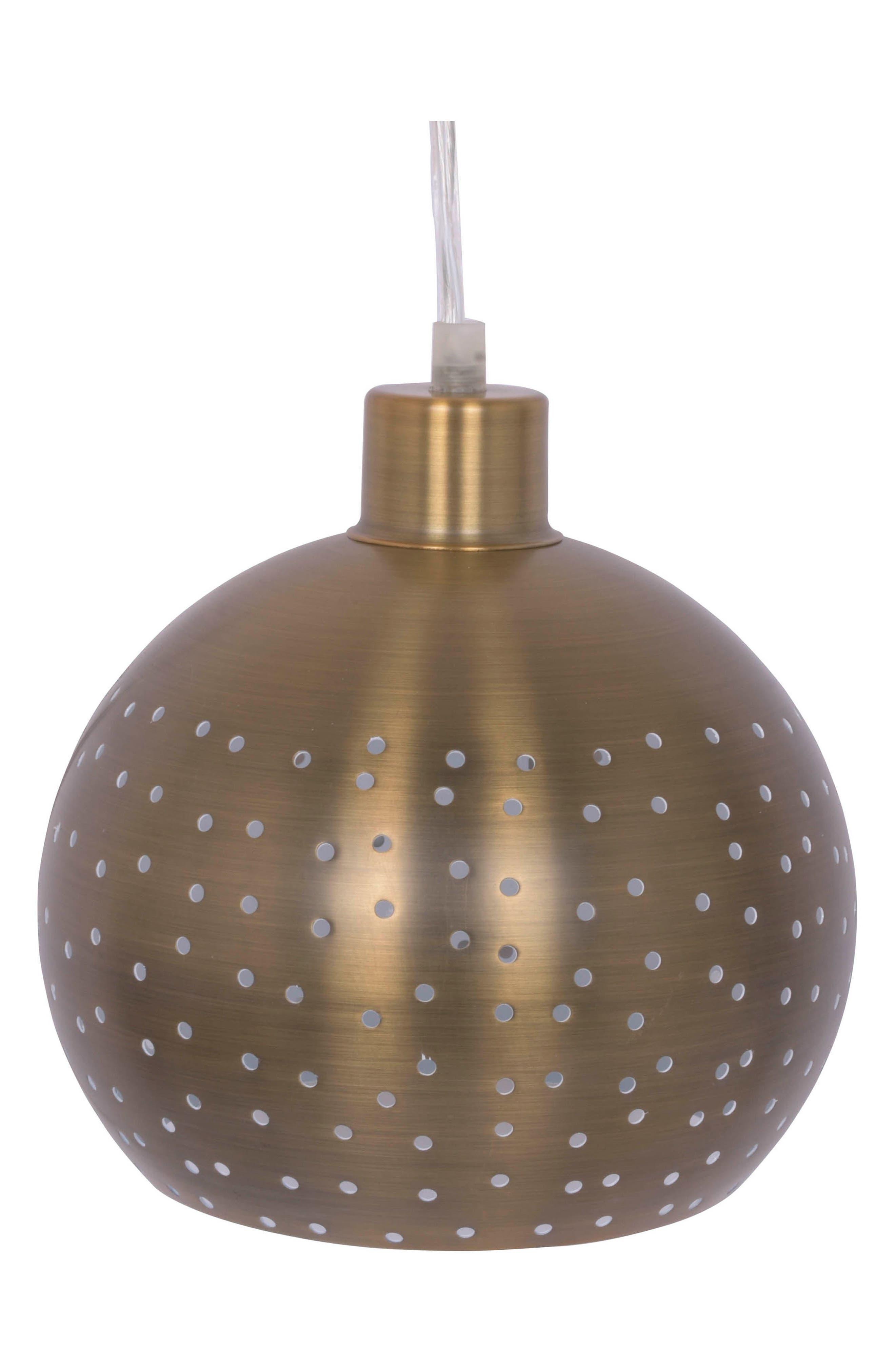 Metal Pendant Lamp,                             Main thumbnail 1, color,                             METALLIC GOLD