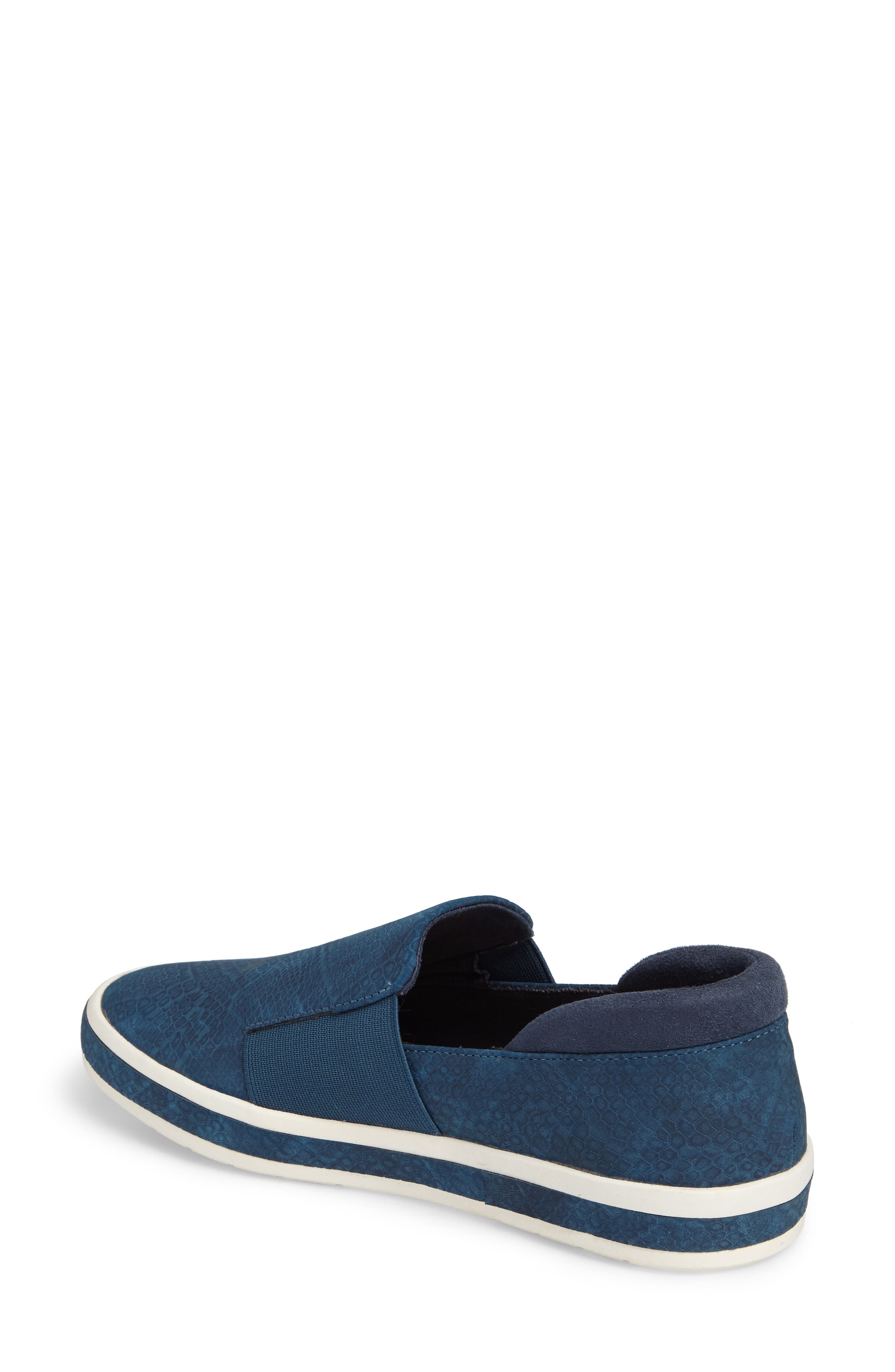 Switch II Slip-On Sneaker,                             Alternate thumbnail 2, color,                             NAVY PRINTED LEATHER