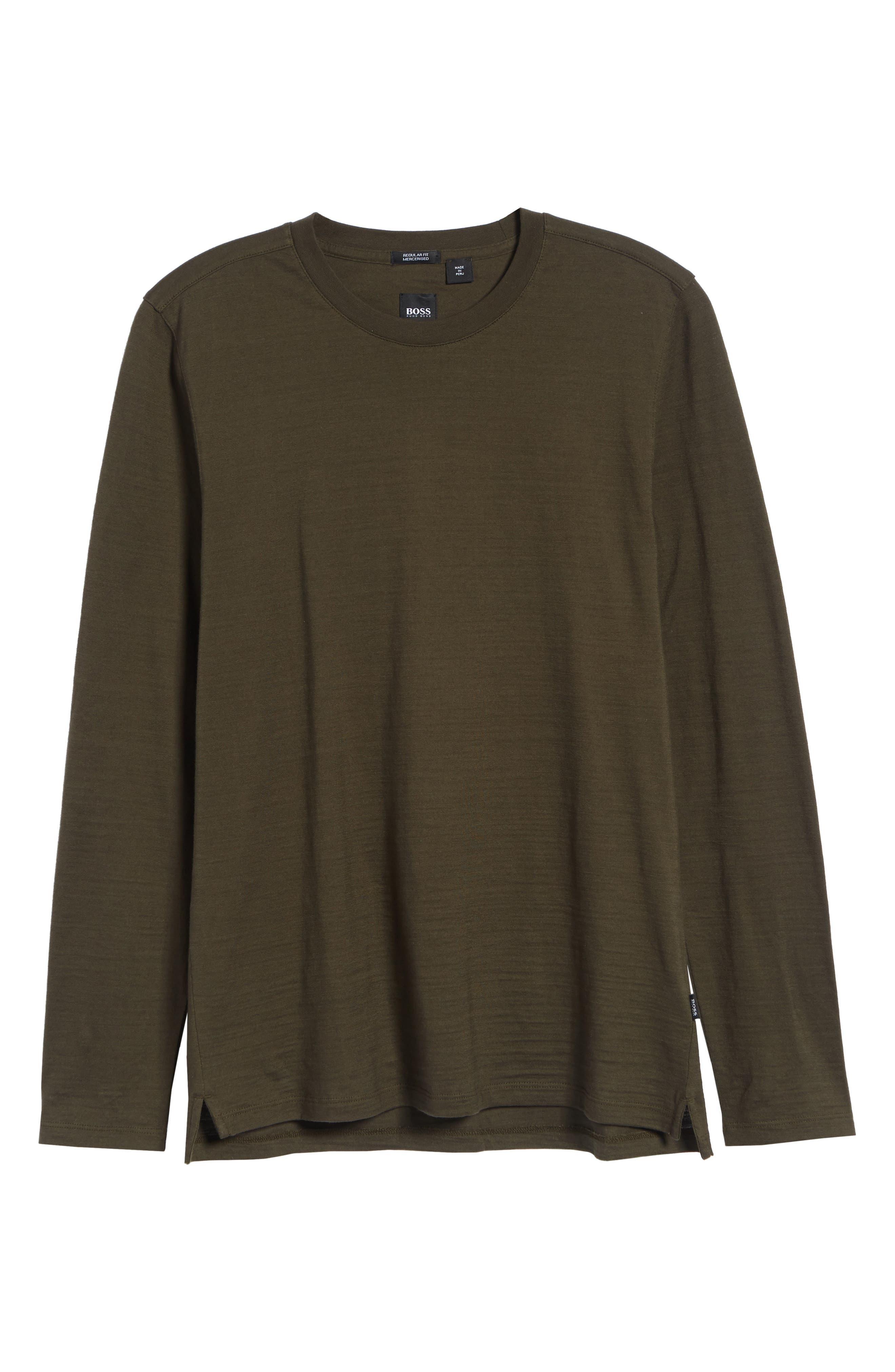 Tenison Long Sleeve Crewneck T-Shirt,                             Alternate thumbnail 6, color,                             DARK GREEN
