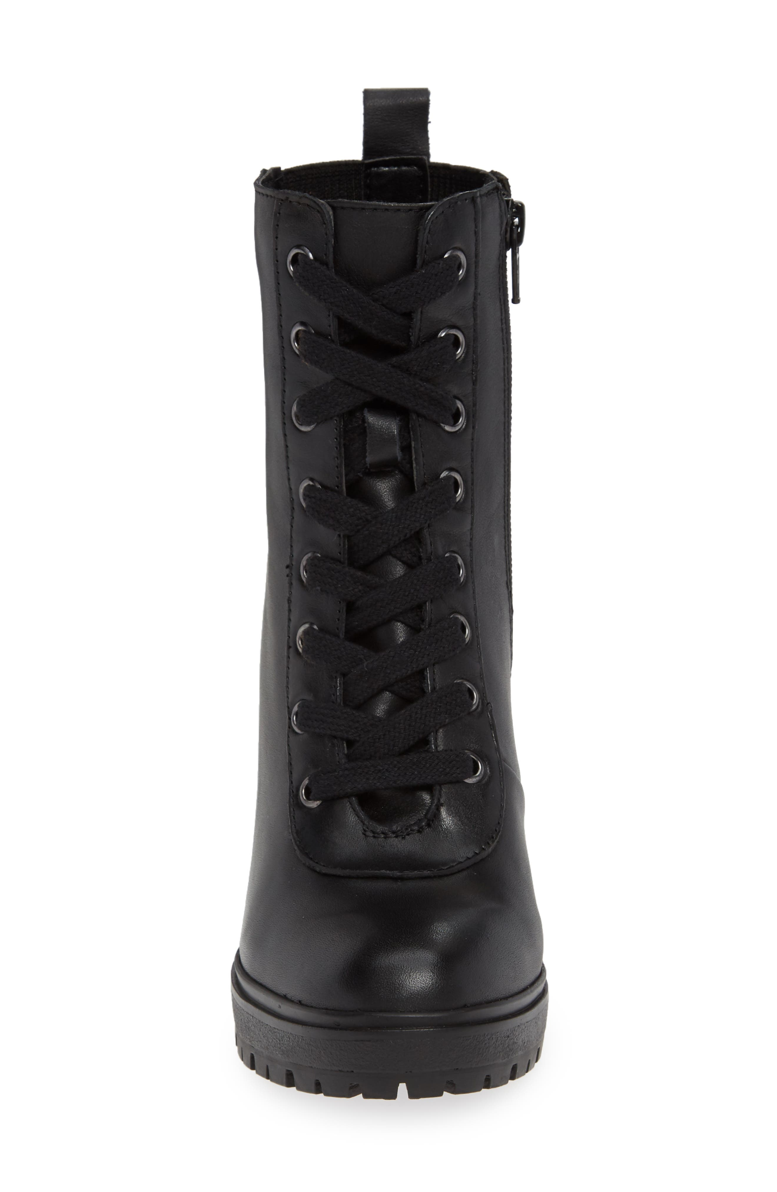 Latch Boot,                             Alternate thumbnail 4, color,                             BLACK LEATHER