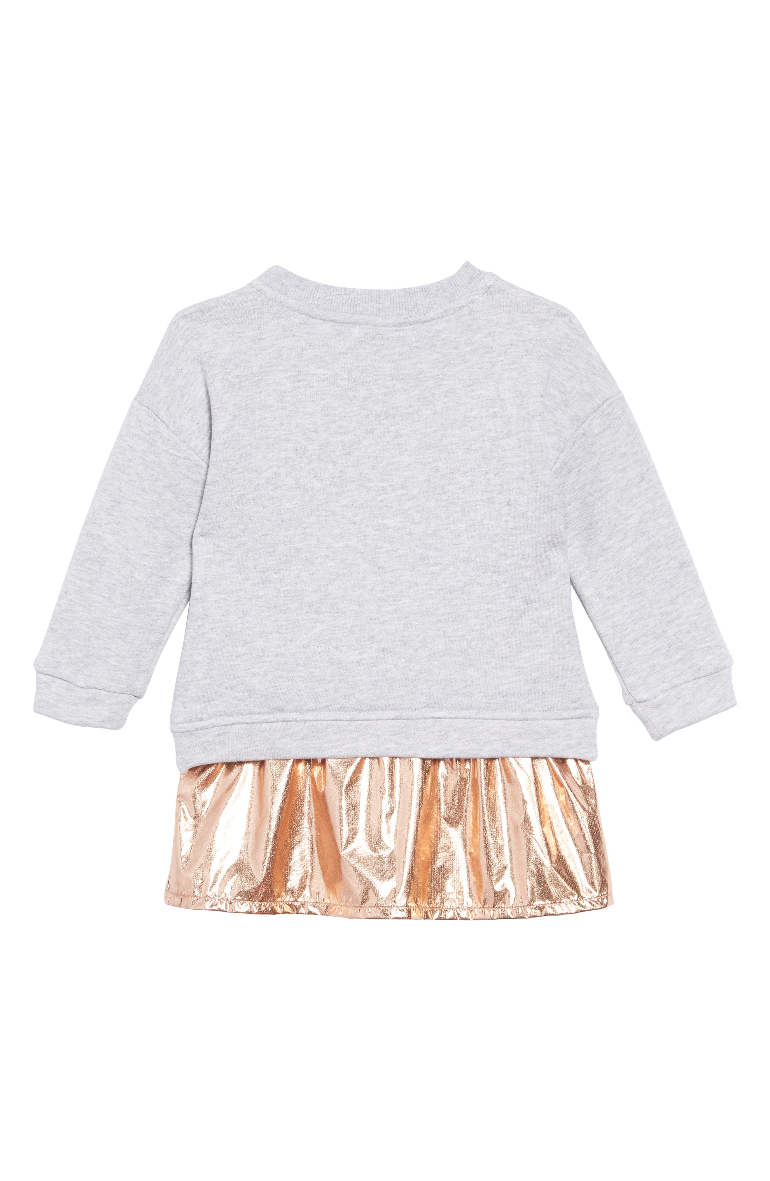 Metallic Graphic Sweatshirt & Dress Set,                             Alternate thumbnail 2, color,                             COPPER