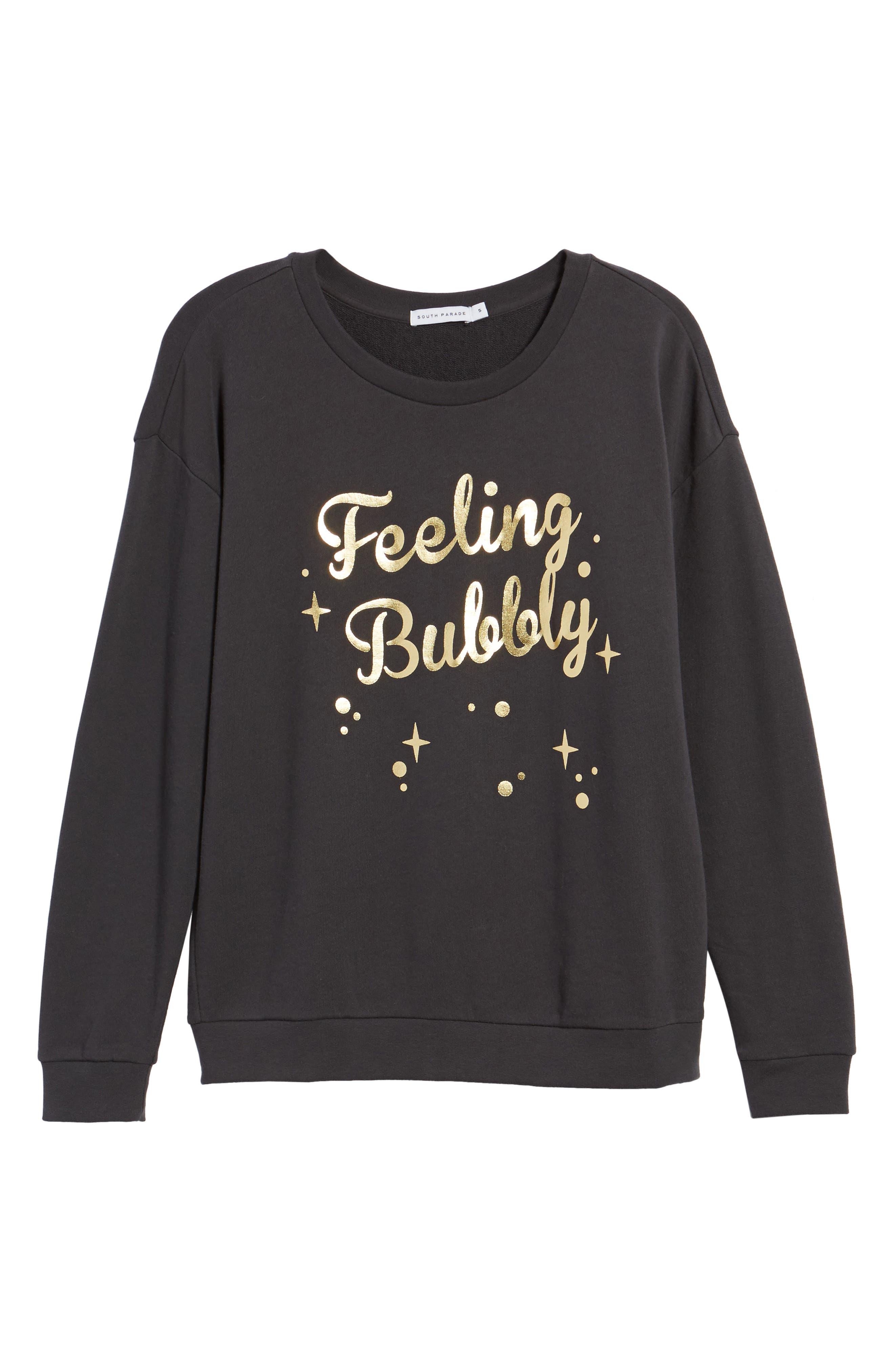 Feeling Bubbly Sweatshirt,                             Alternate thumbnail 6, color,                             001