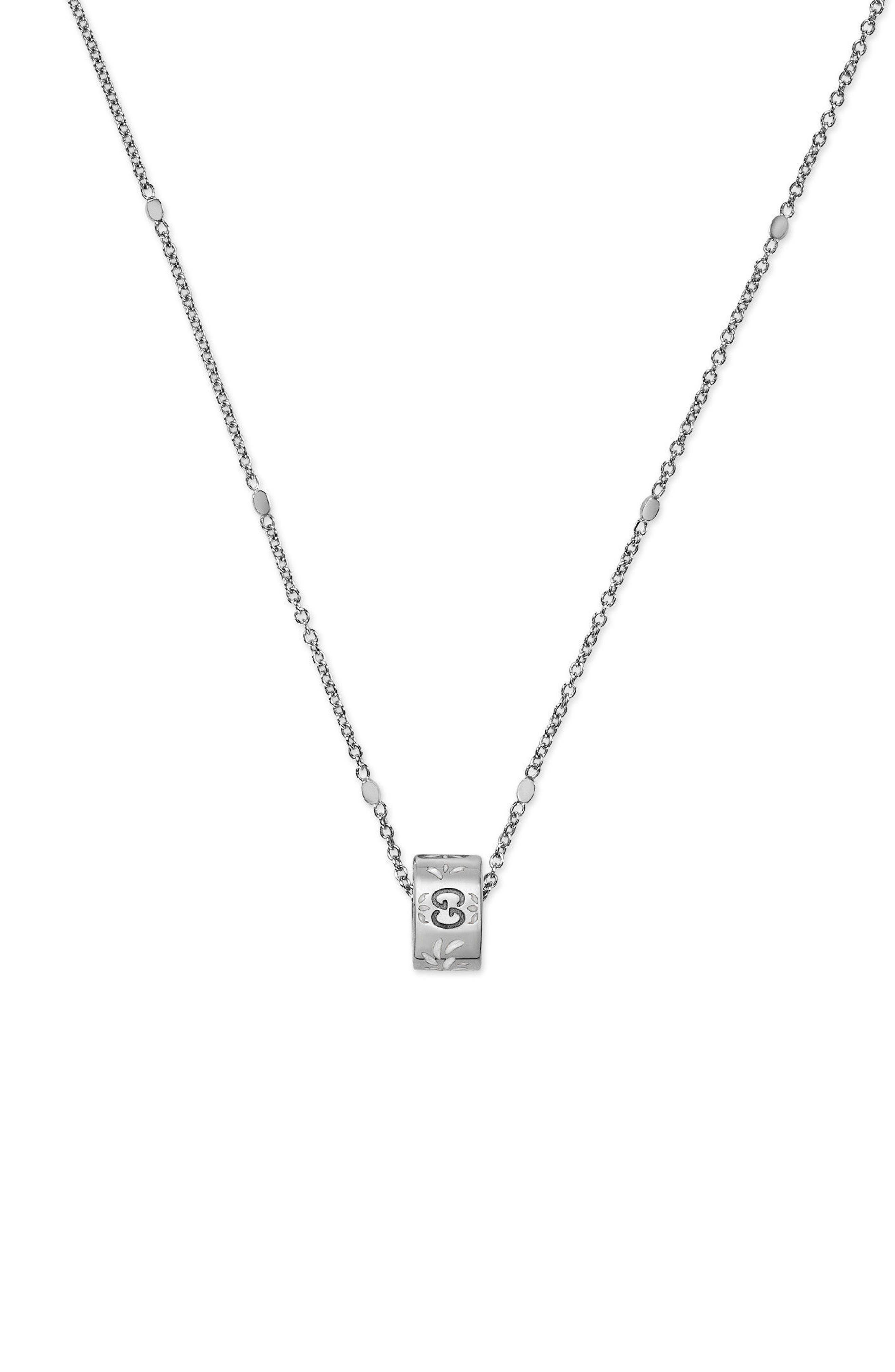 Icon Pendant Necklace,                             Main thumbnail 1, color,                             WHITE GOLD