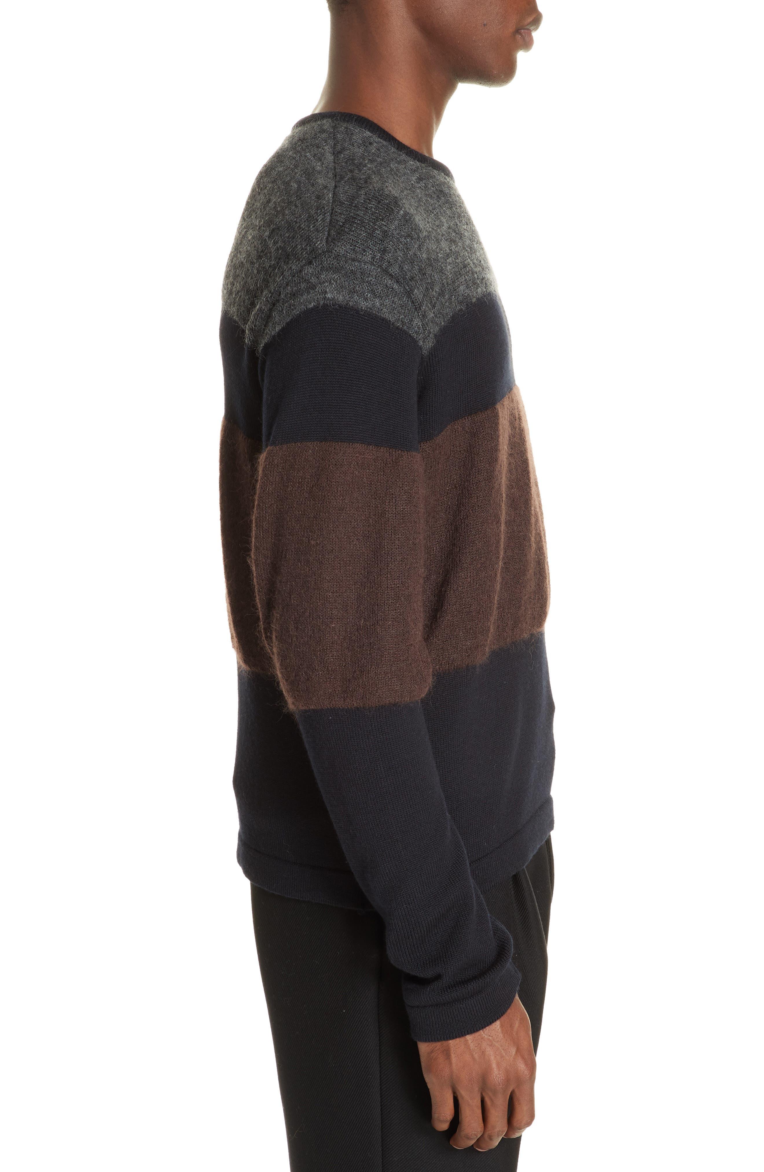 Stripe Sweater,                             Alternate thumbnail 3, color,                             NAVY