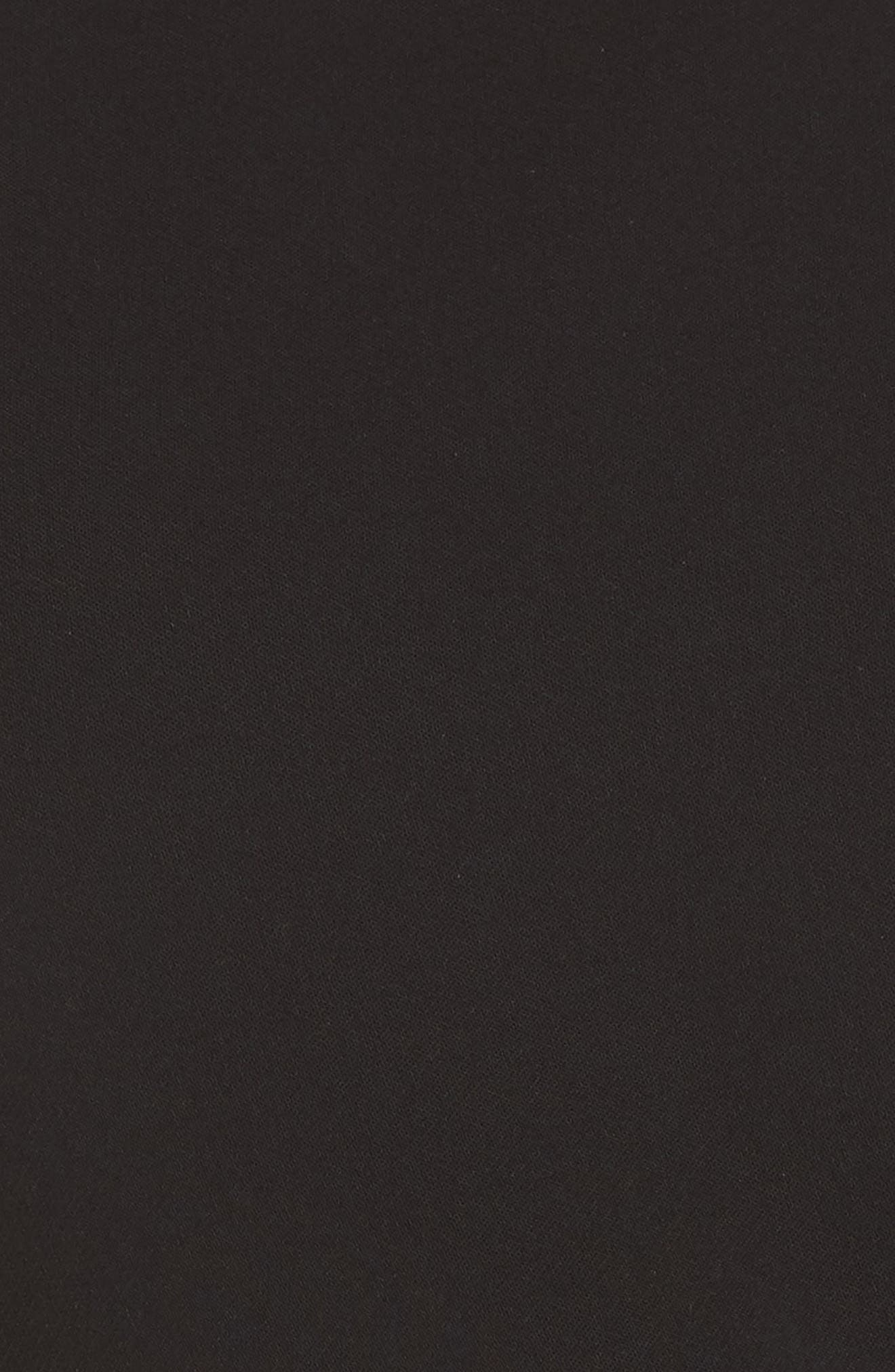 Sleeveless Crepe Crop Jumpsuit,                             Alternate thumbnail 6, color,                             BLACK