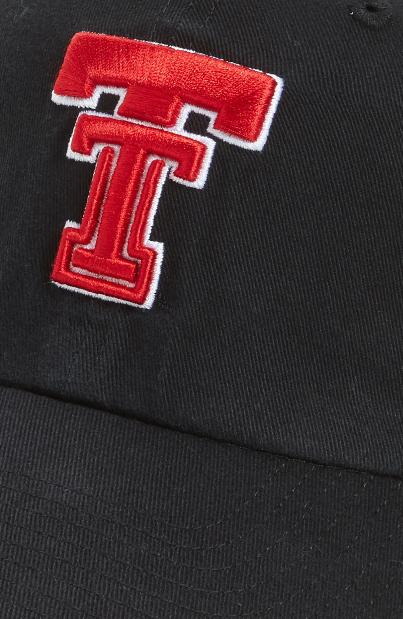 Texas Tech Clean Up Baseball Cap,                             Alternate thumbnail 3, color,                             001