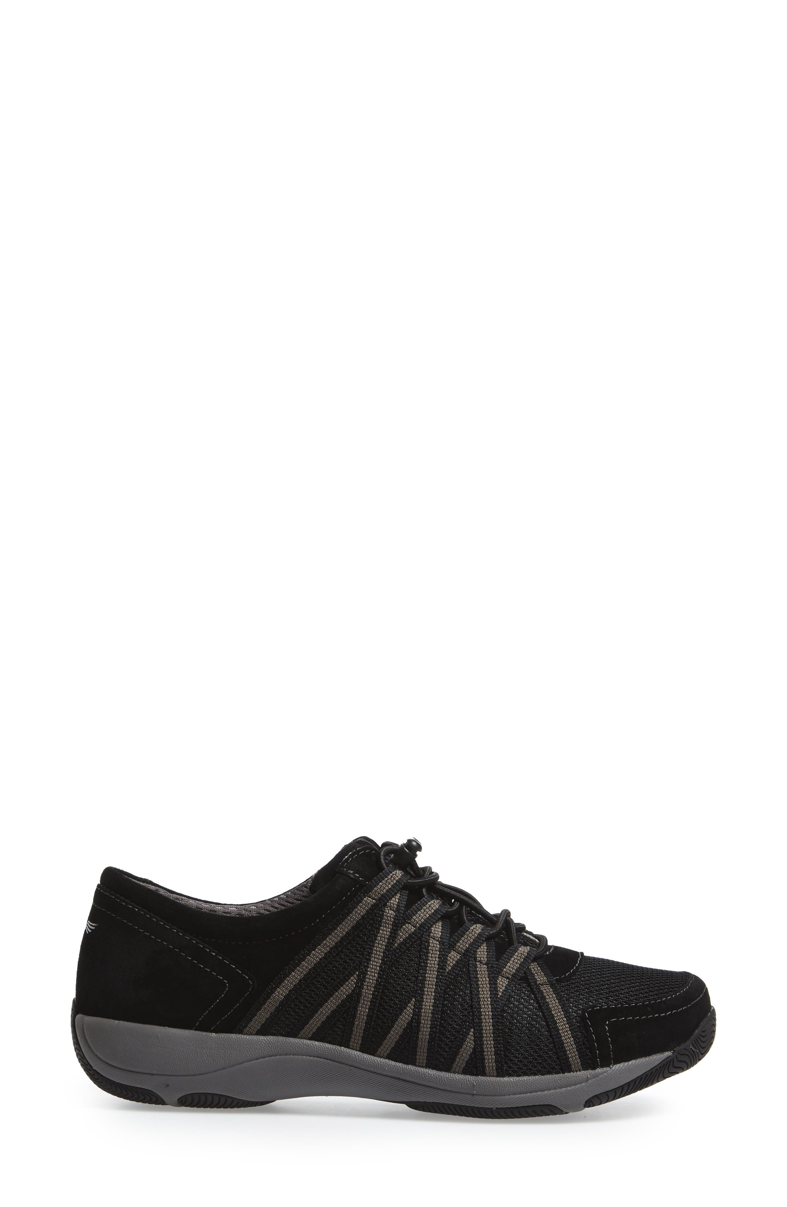 Halifax Collection Honor Sneaker,                             Alternate thumbnail 3, color,                             BLACK/ BLACK SUEDE