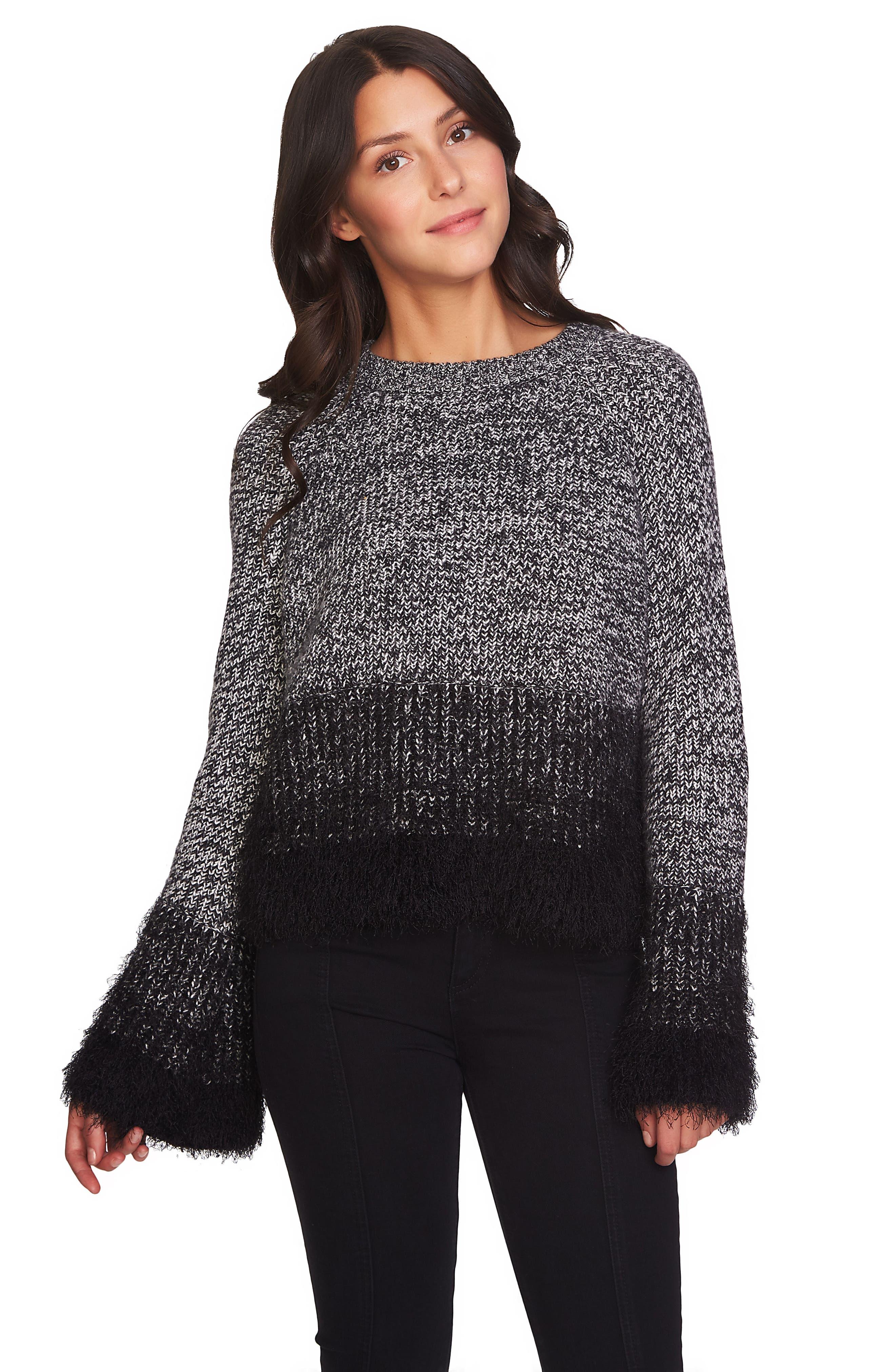 Eyelash Fringe Sweater,                             Alternate thumbnail 7, color,                             006