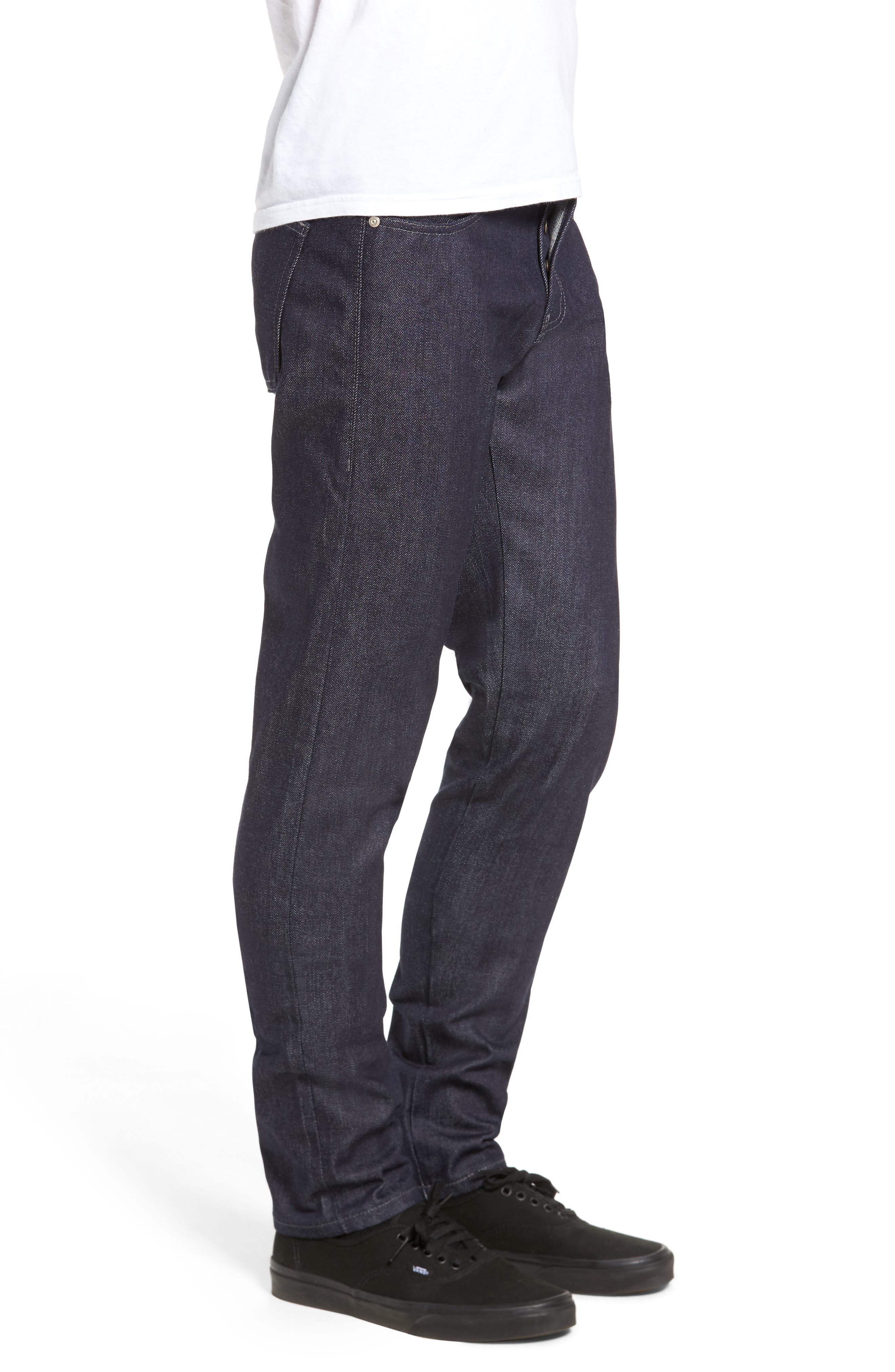 Naked & Famous Super Skinny Guy Skinny Fit Jeans,                             Alternate thumbnail 3, color,                             INDIGO