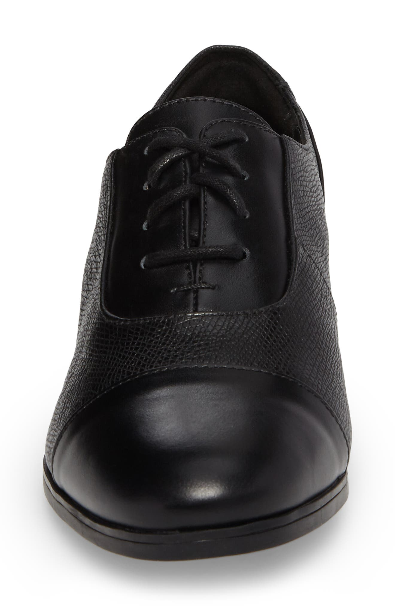 Tilmont Ivy Oxford,                             Alternate thumbnail 4, color,                             BLACK LEATHER
