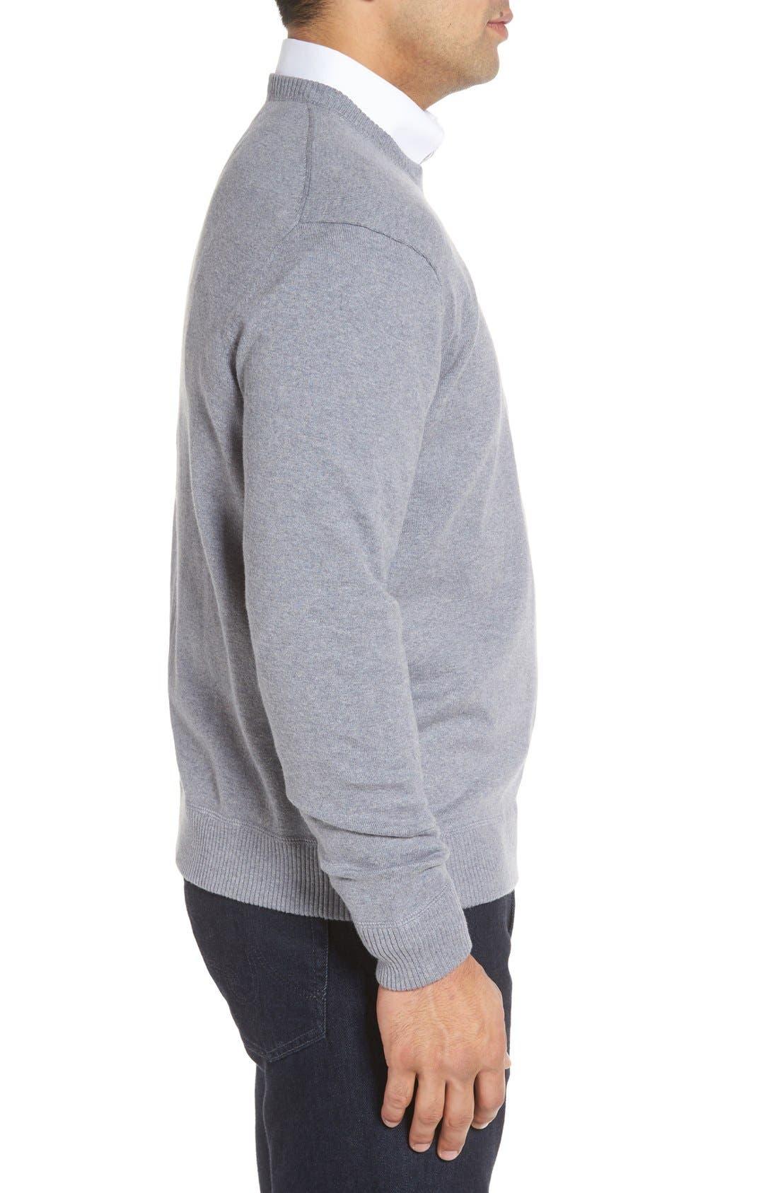 'Jersey Sport' Cotton Blend Crewneck Sweater,                             Alternate thumbnail 18, color,