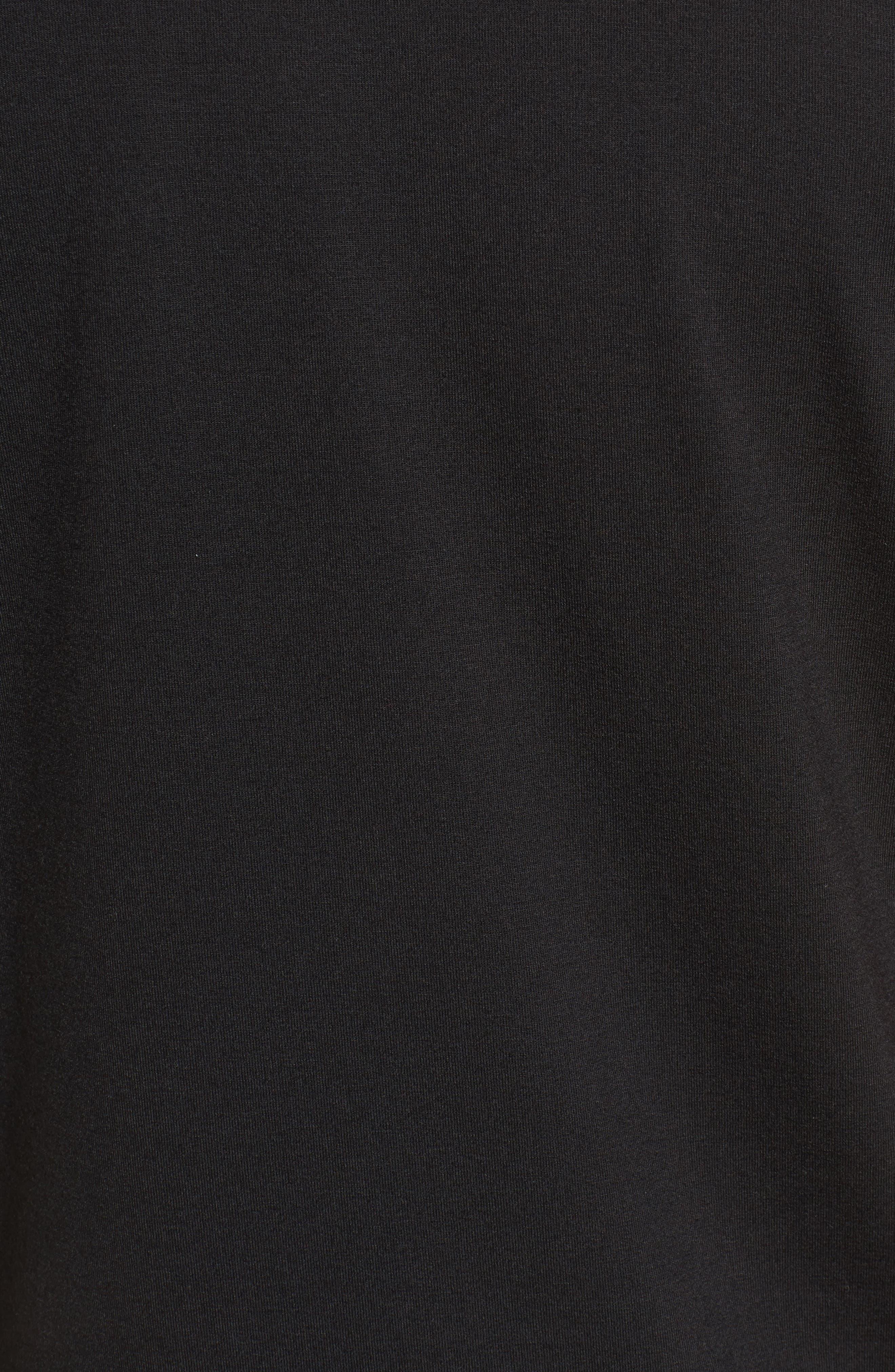 Slim Fit Short Sleeve Performance Henley T-Shirt,                             Alternate thumbnail 5, color,                             TOHONO BLACK