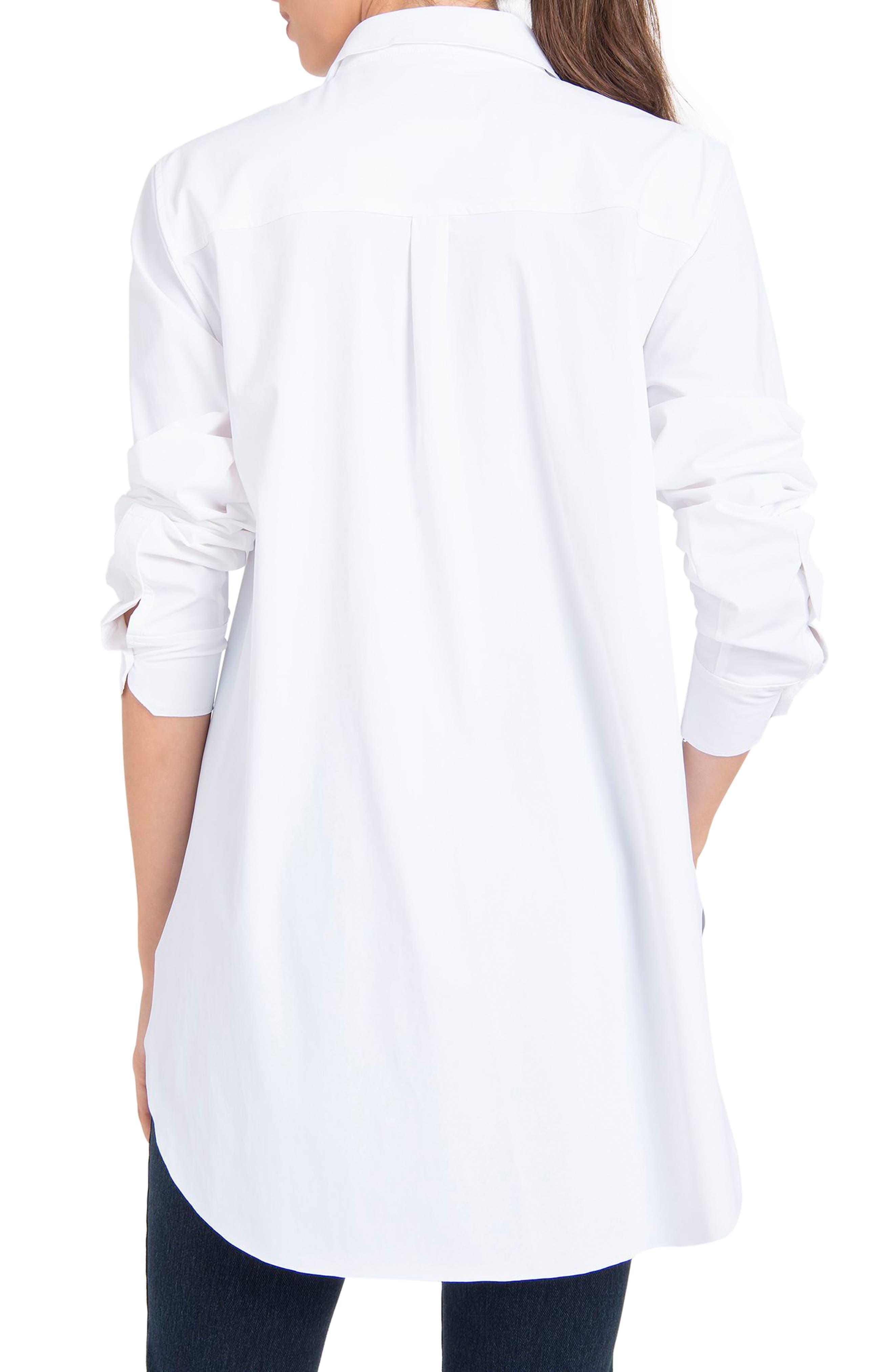 LYSSÉ,                             Schiffer Shirt,                             Alternate thumbnail 2, color,                             WHITE