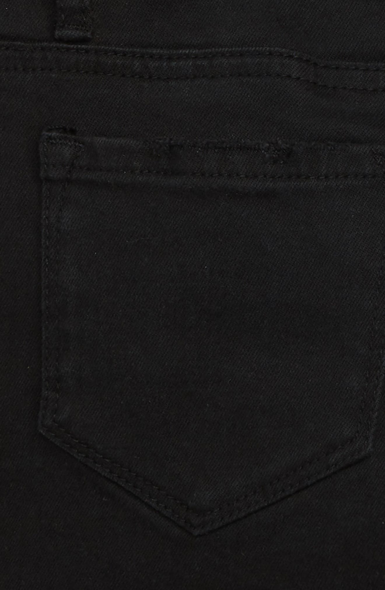 Cutoff Denim Shorts,                             Alternate thumbnail 3, color,                             BLACK