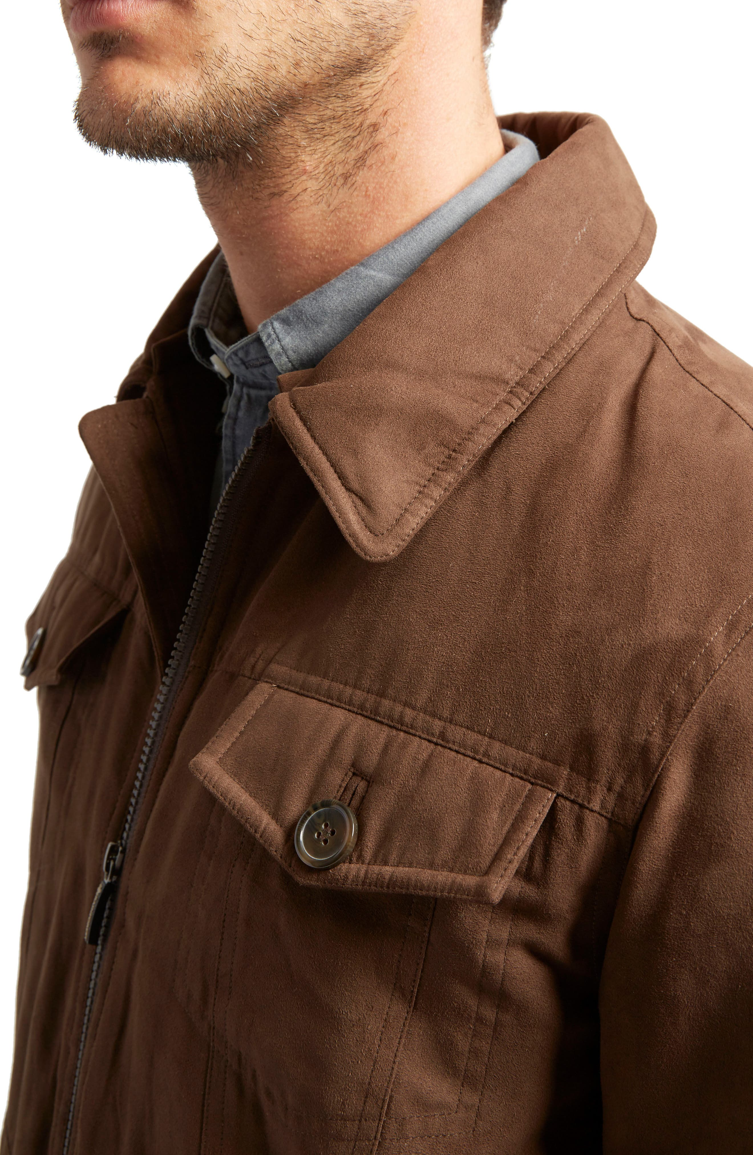 Gilpin Water-Resistant Trucker Jacket,                             Alternate thumbnail 3, color,                             214