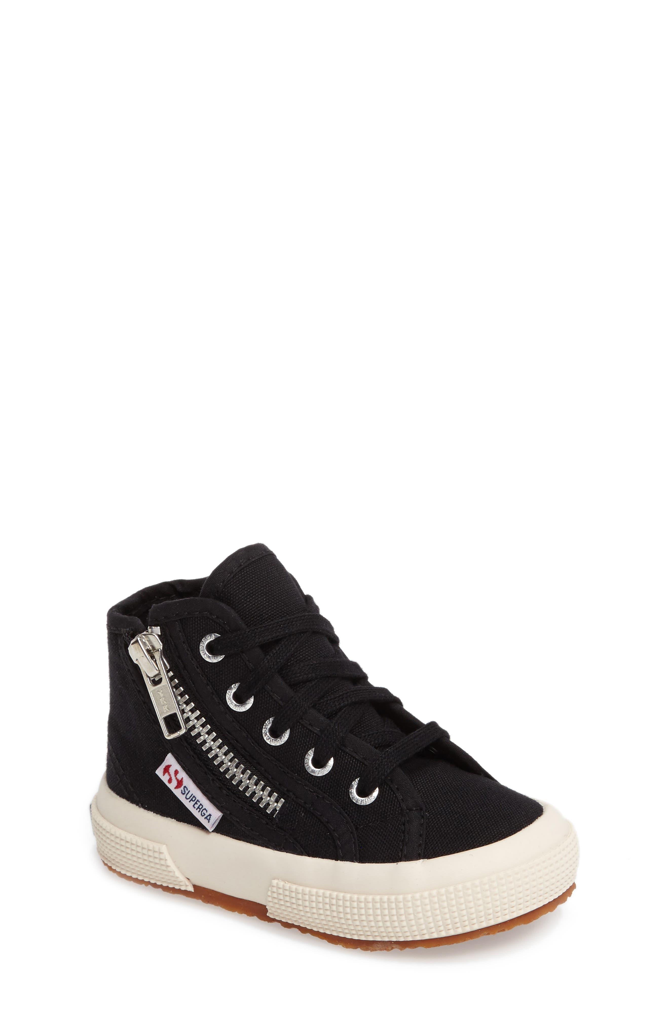 Zip High Top Sneaker,                         Main,                         color, 001