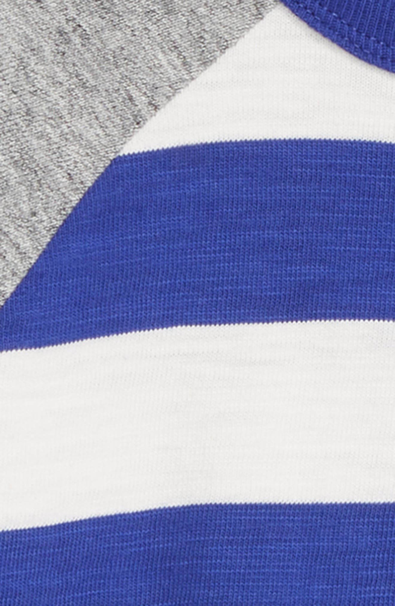 Stripe Raglan T-Shirt,                             Alternate thumbnail 2, color,                             RICHIE BLUE/ ECRU