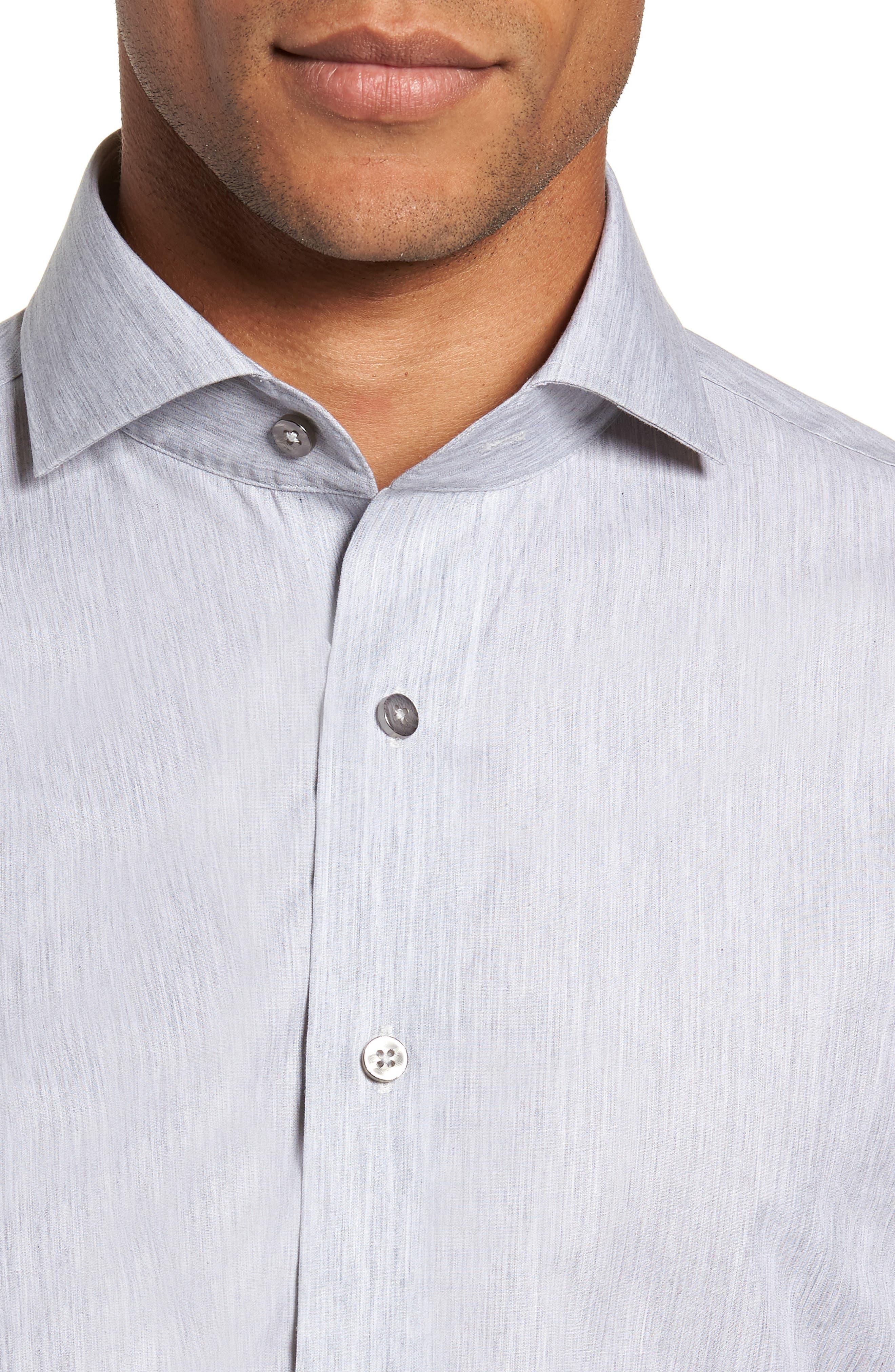 Trim Fit Solid Dress Shirt,                             Alternate thumbnail 2, color,                             050