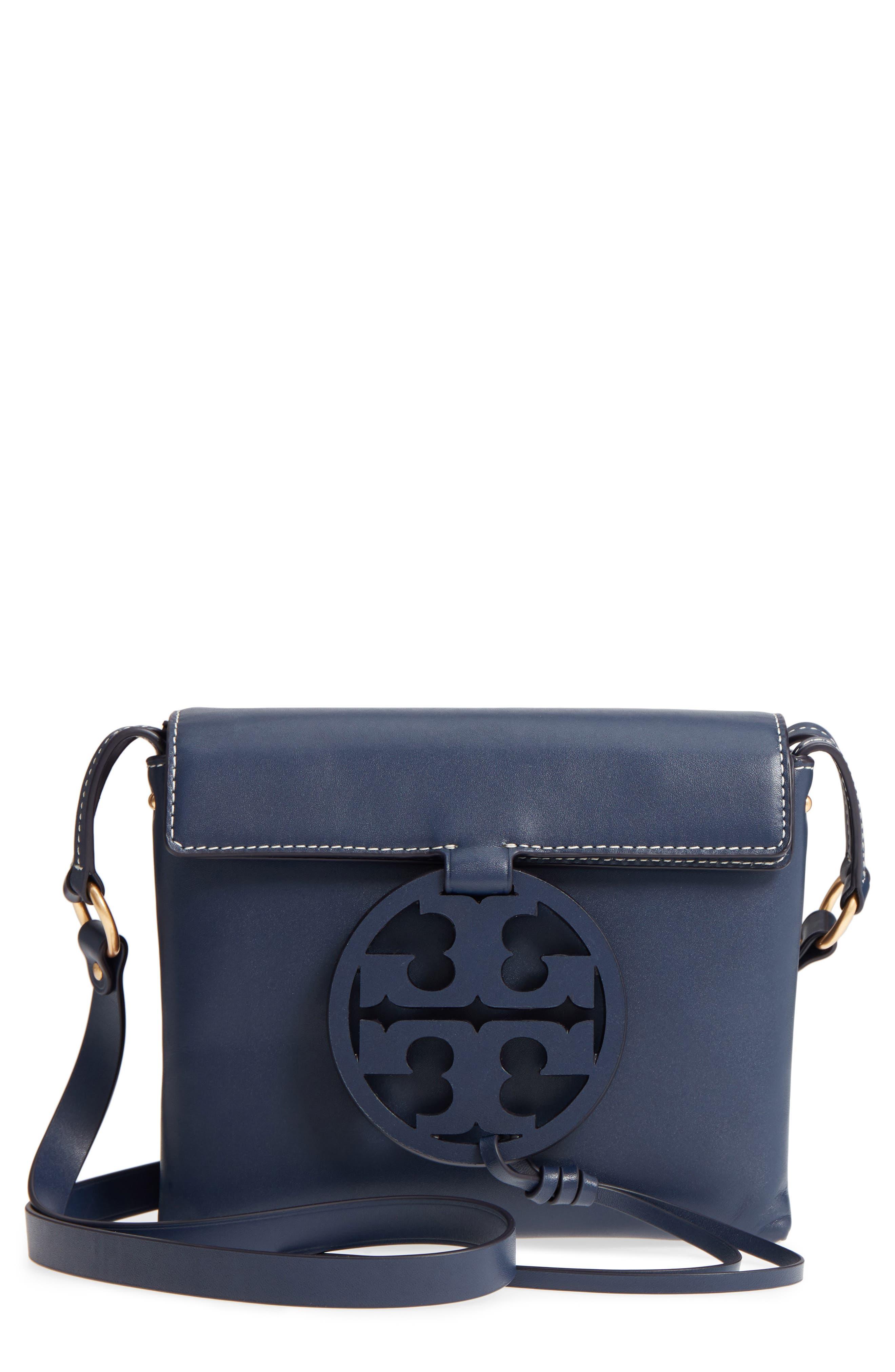 Miller Leather Crossbody Bag, Main, color, ROYAL NAVY