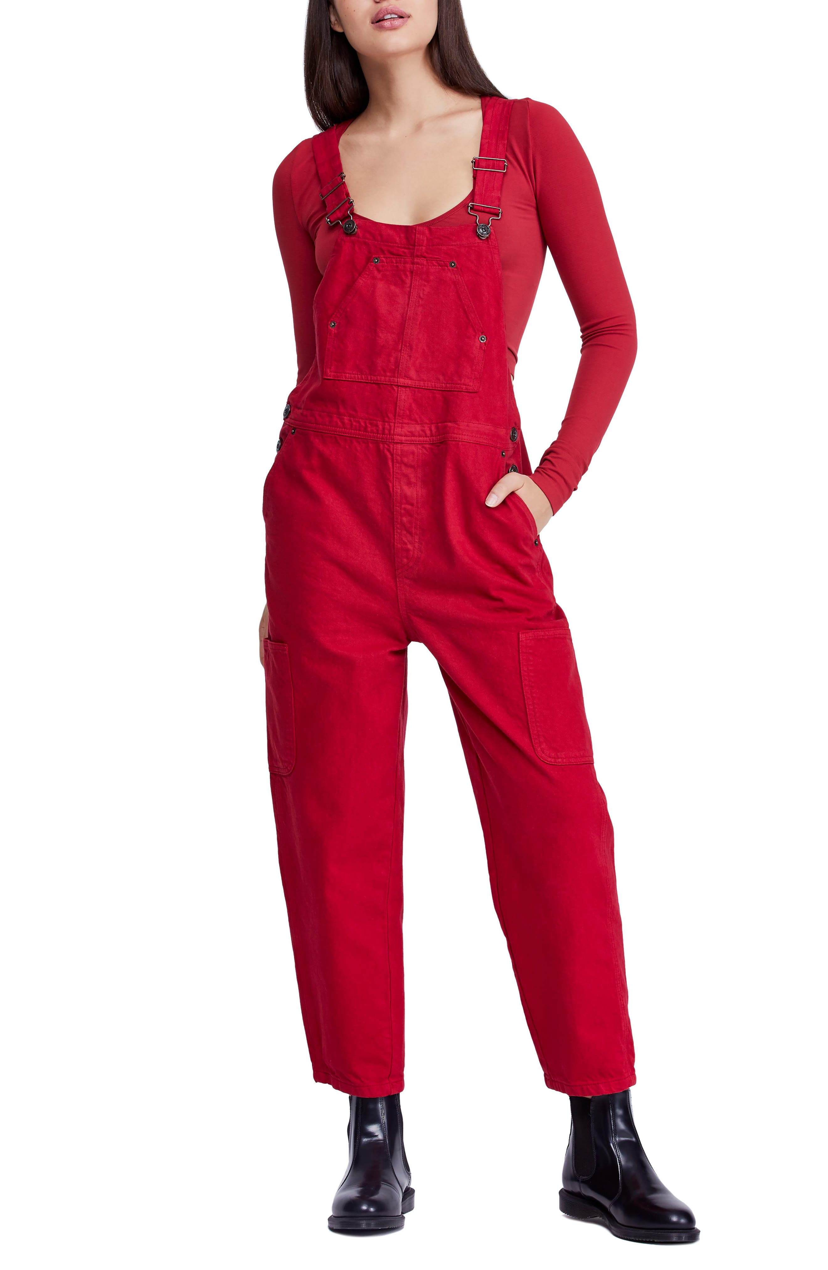 BDG,                             Urban Outfitter Straight Leg Overalls,                             Main thumbnail 1, color,                             600