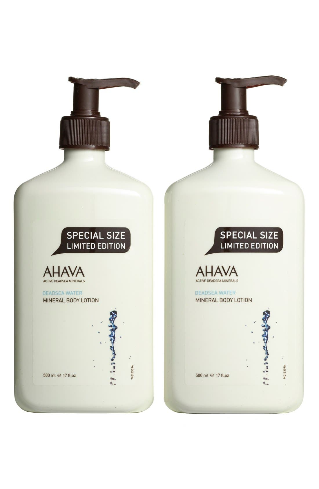 AHAVA,                             Mineral Body Lotion Duo,                             Main thumbnail 1, color,                             000