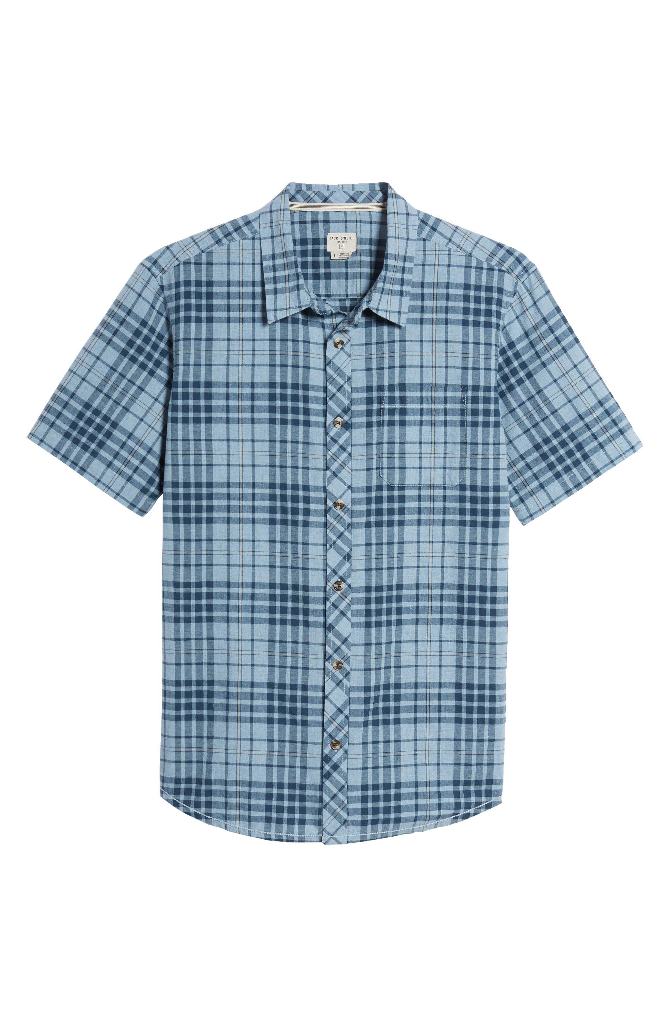 Rhodes Check Sport Shirt,                             Alternate thumbnail 12, color,