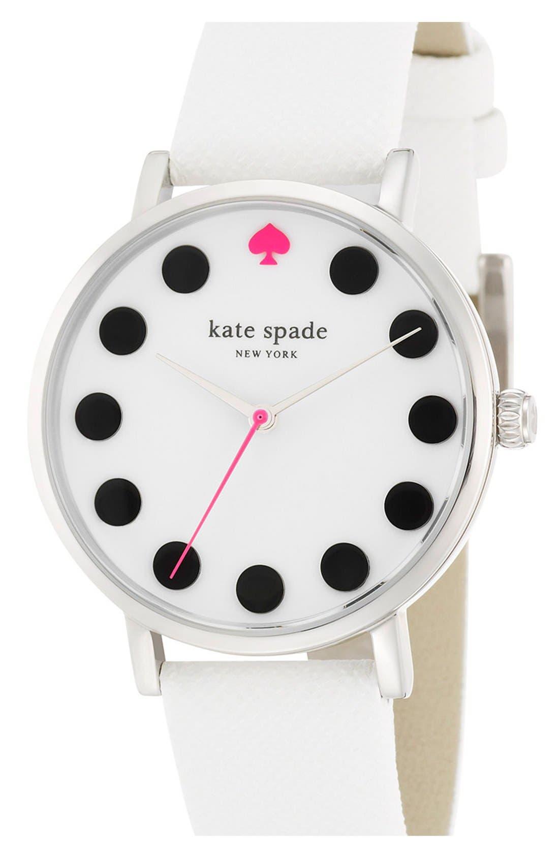 'metro' boxed dot dial watch & straps set, 34mm,                             Alternate thumbnail 3, color,                             100