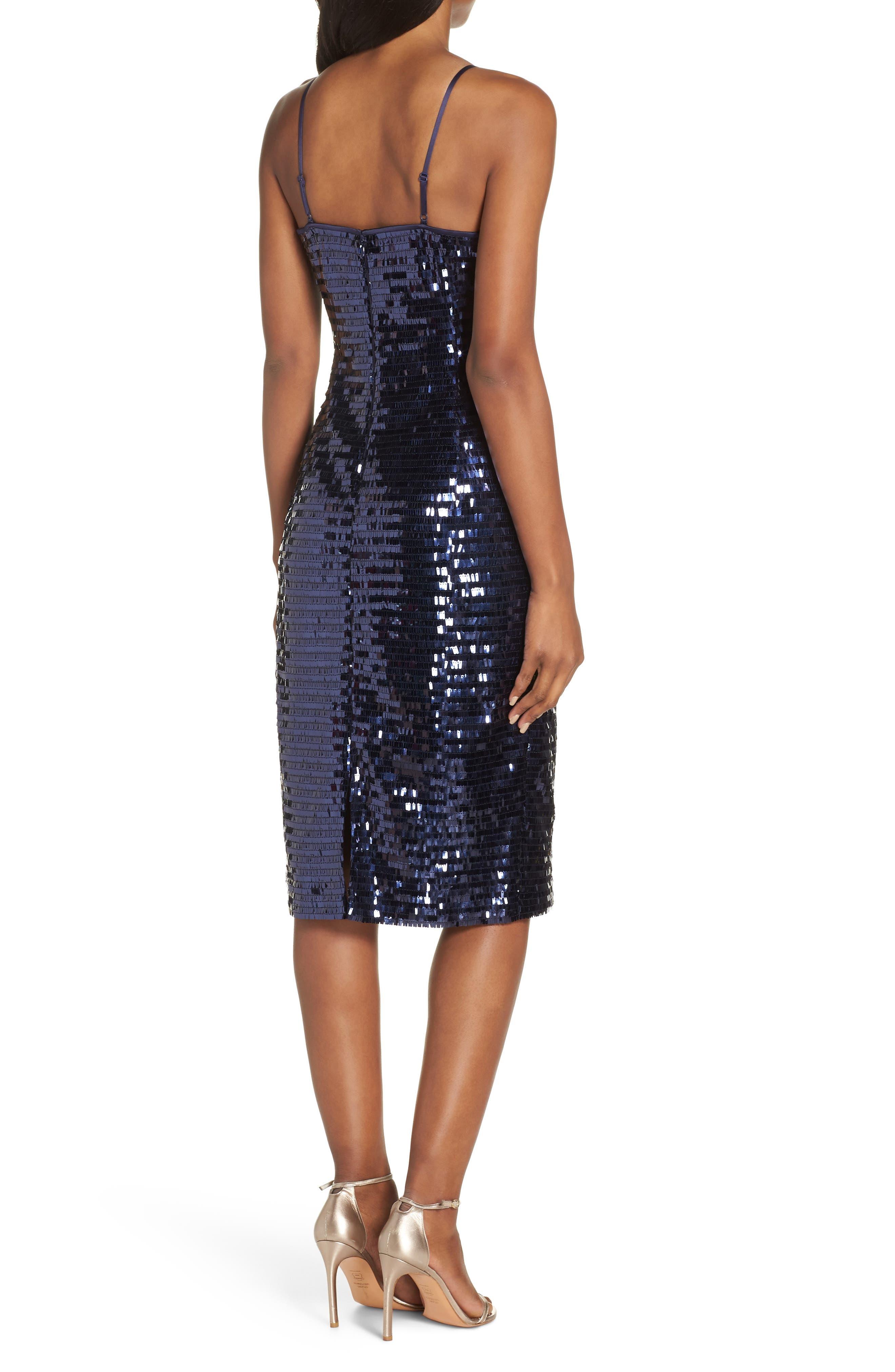 Sequin Sheath Dress,                             Alternate thumbnail 2, color,                             NAVY