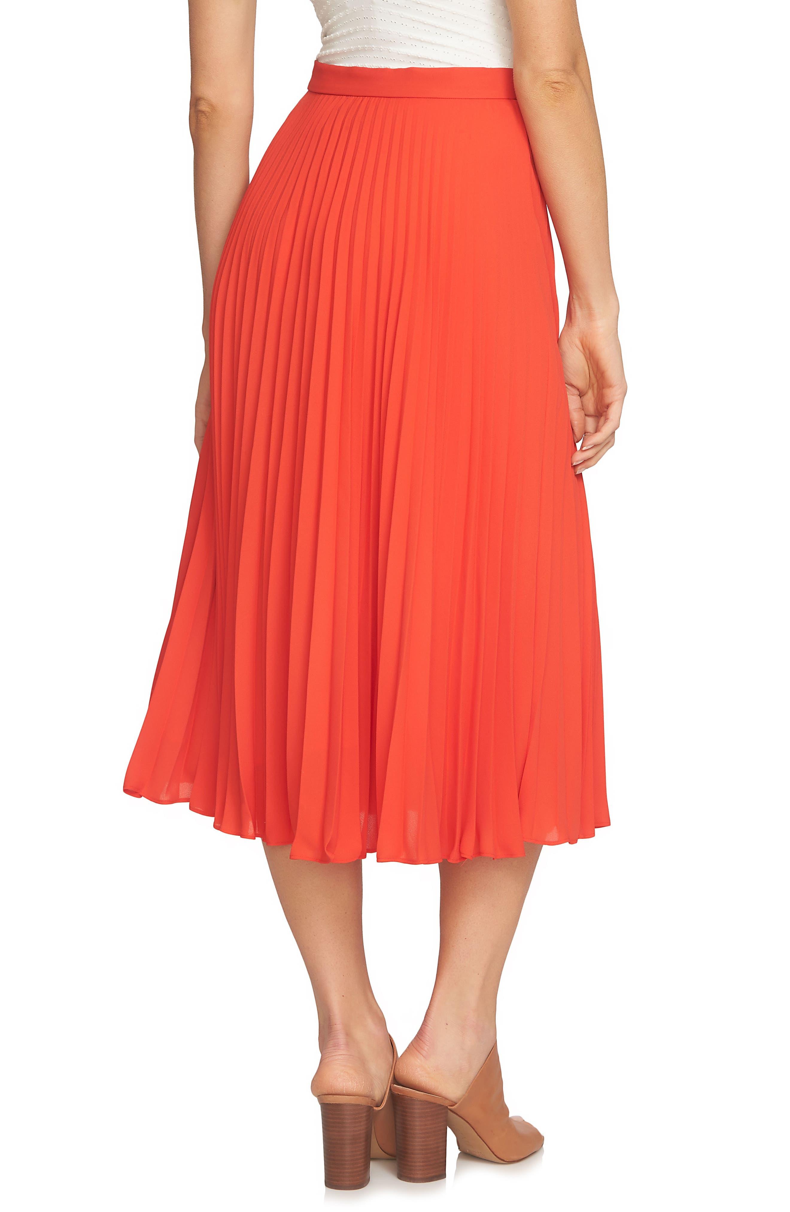 Pleated Midi Skirt,                             Alternate thumbnail 5, color,