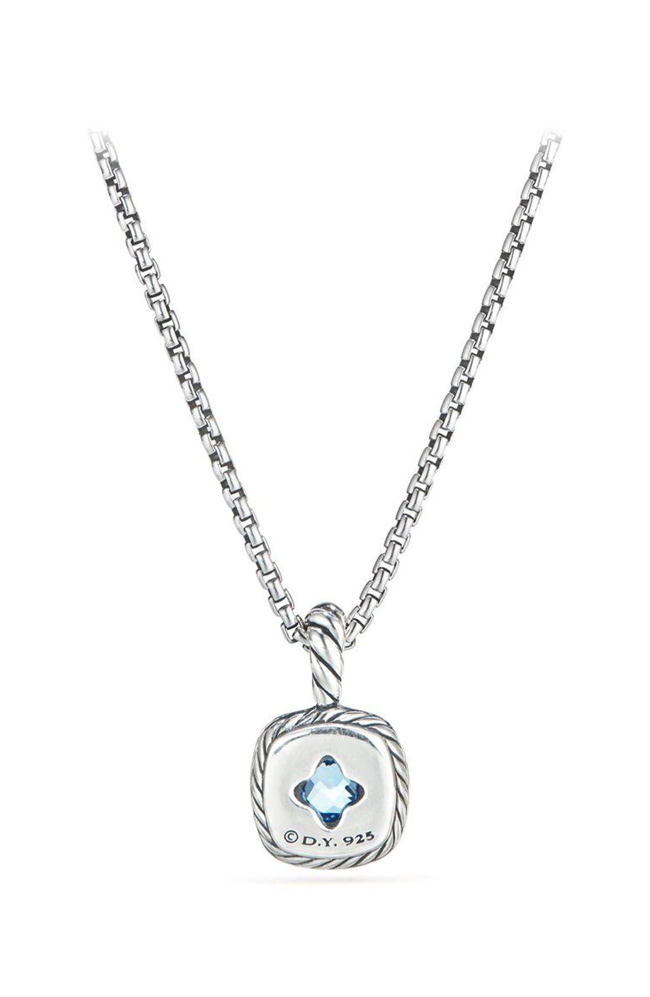 Albion<sup>®</sup> Necklace with Diamonds,                             Alternate thumbnail 2, color,                             BLUE TOPAZ