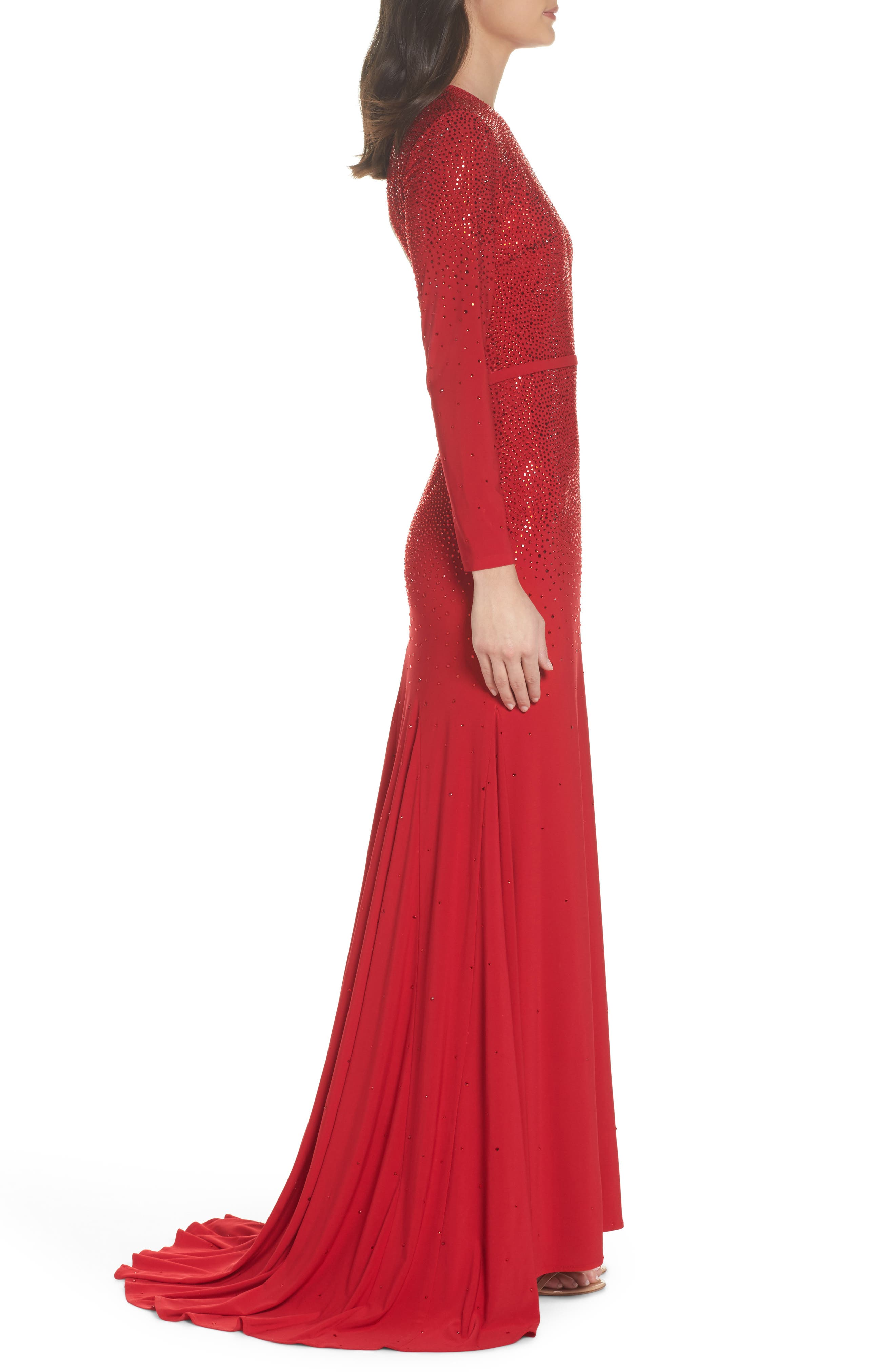 Off the Shoulder Fit & Flare Dress,                             Alternate thumbnail 3, color,                             600