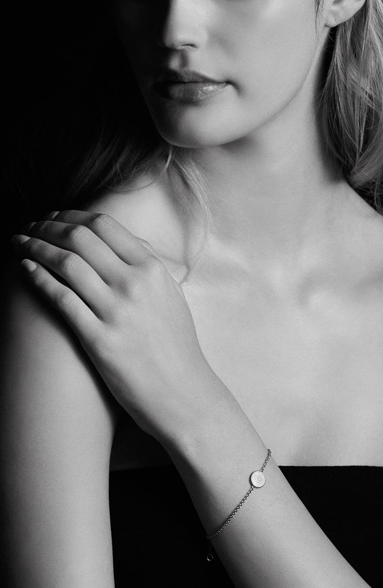 'Petite Pavé' Hamsa Bracelet with Diamonds in 18K Gold,                             Alternate thumbnail 2, color,                             GOLD