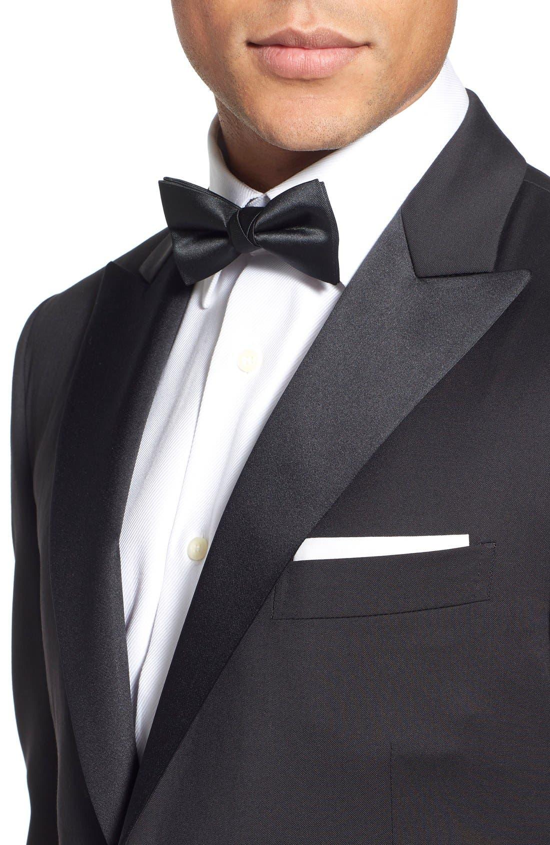 Classic Fit Wool Tuxedo,                             Alternate thumbnail 4, color,                             001