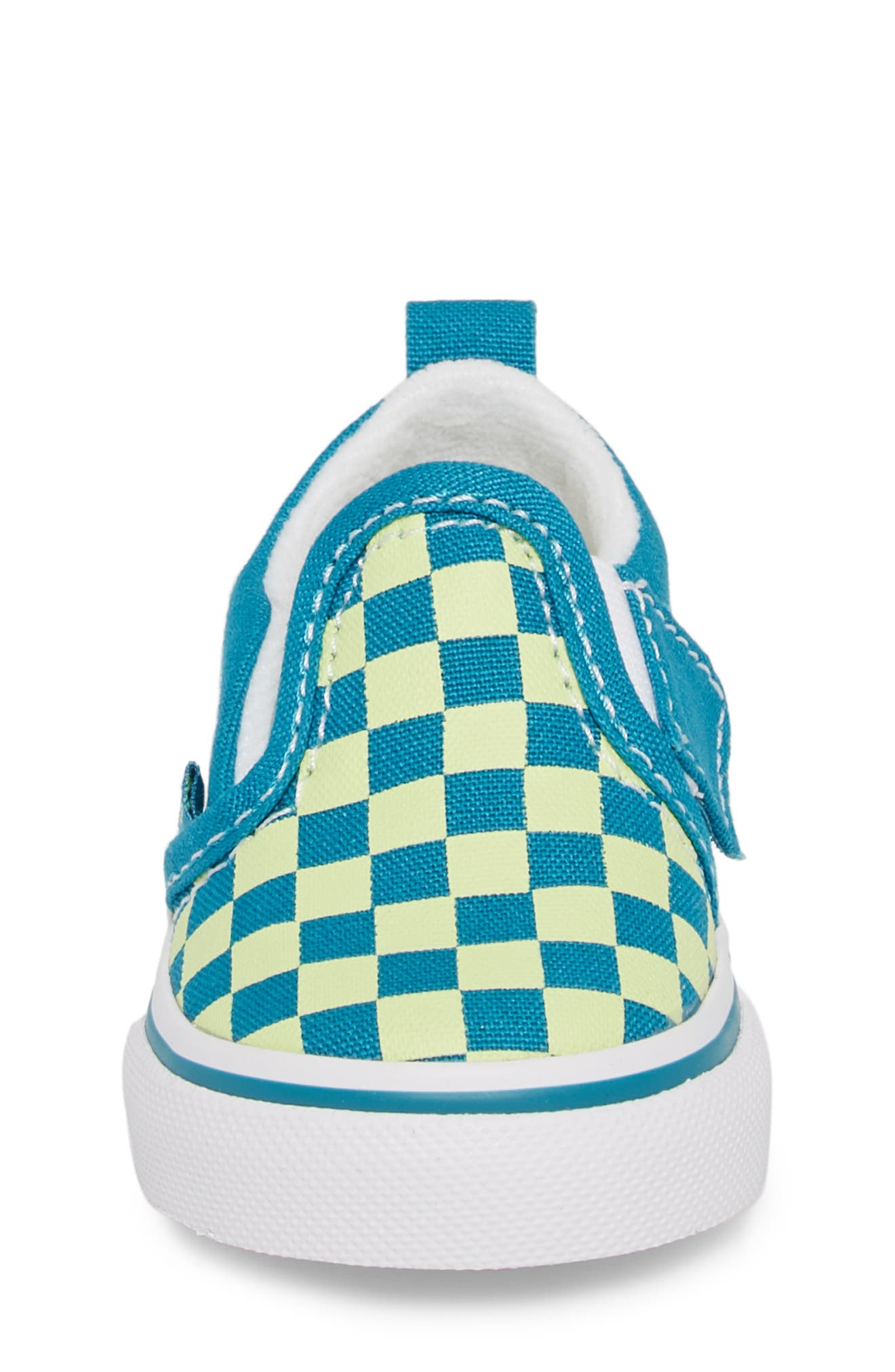 Slip-On Crib Shoe,                             Alternate thumbnail 4, color,                             ENAMEL BLUE/ SHARP GREEN