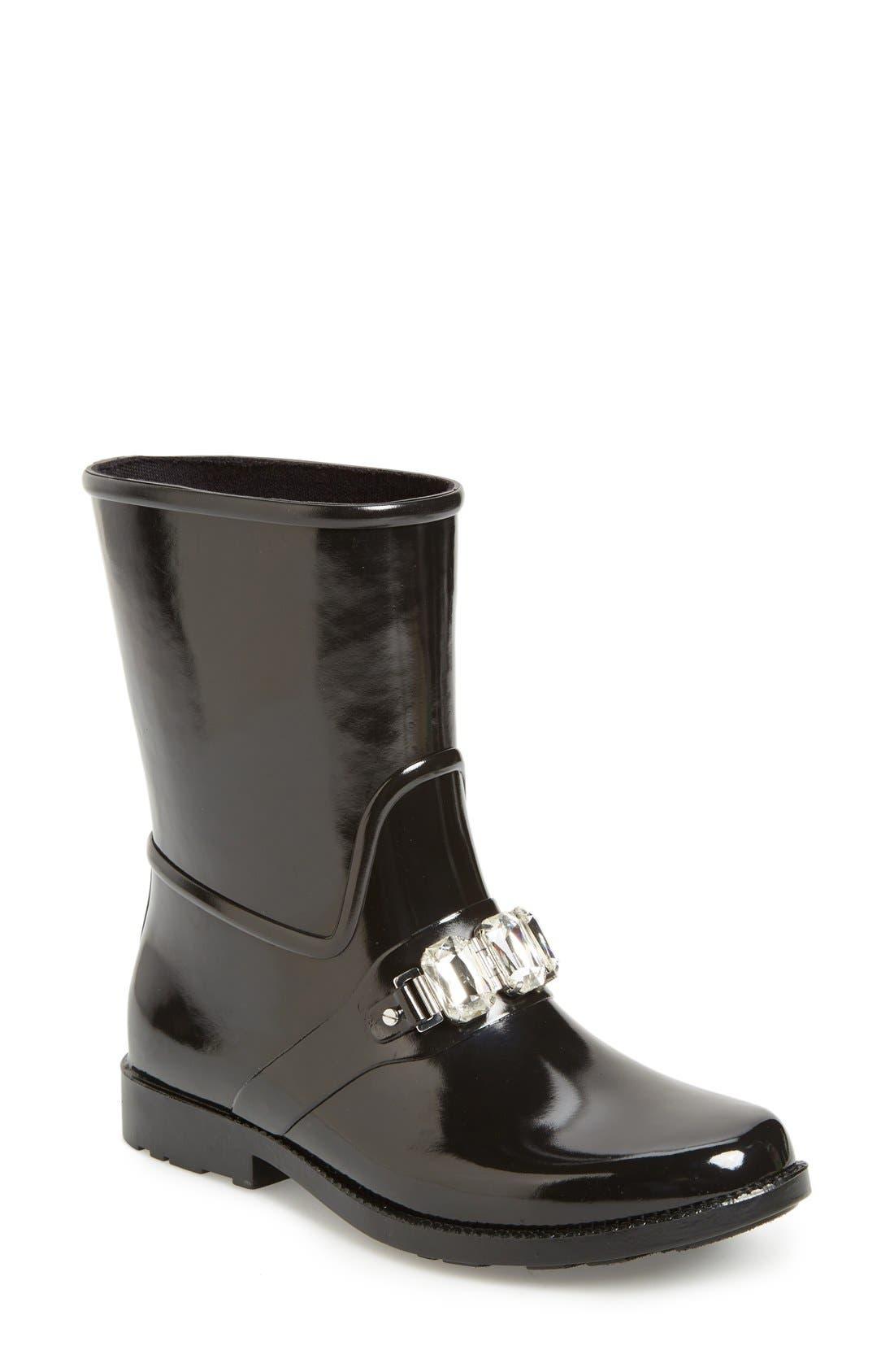 'Leslie' Rain Boot,                             Main thumbnail 1, color,                             001