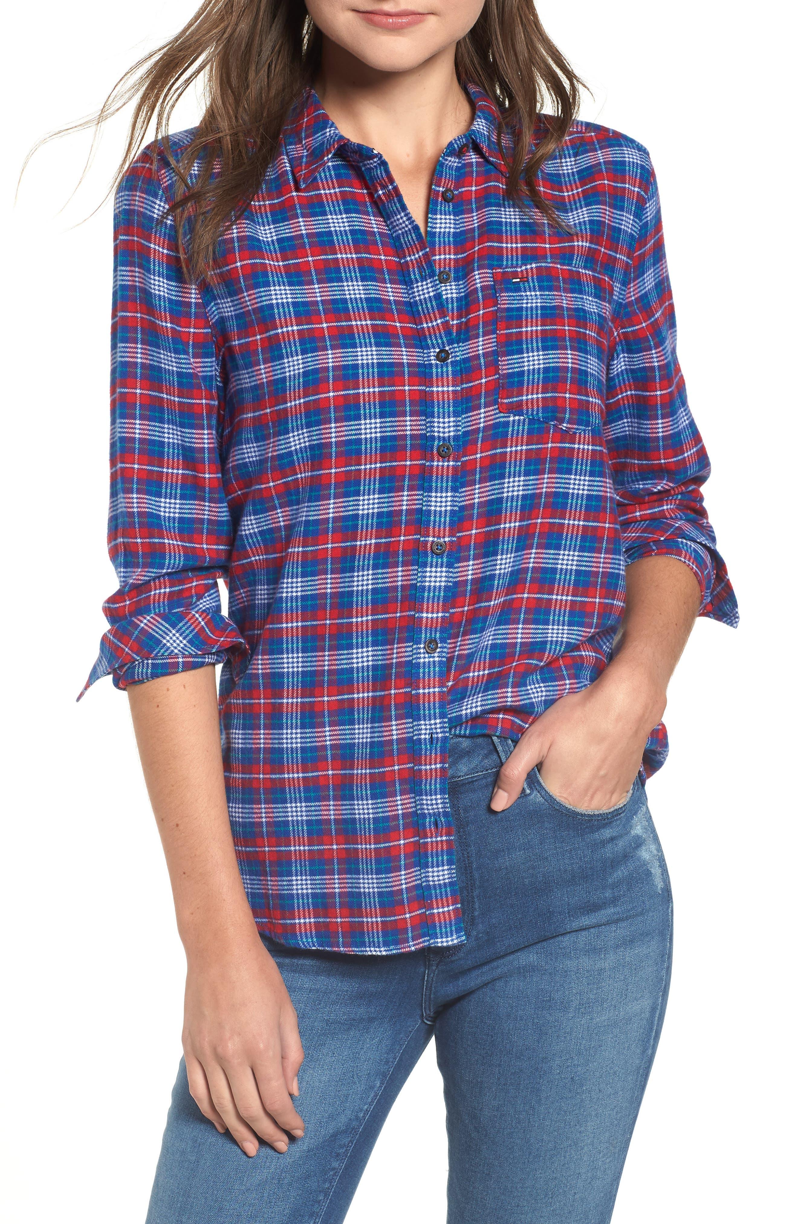 Multicolor Check Shirt,                             Main thumbnail 1, color,                             MULTI COLOR CHECK