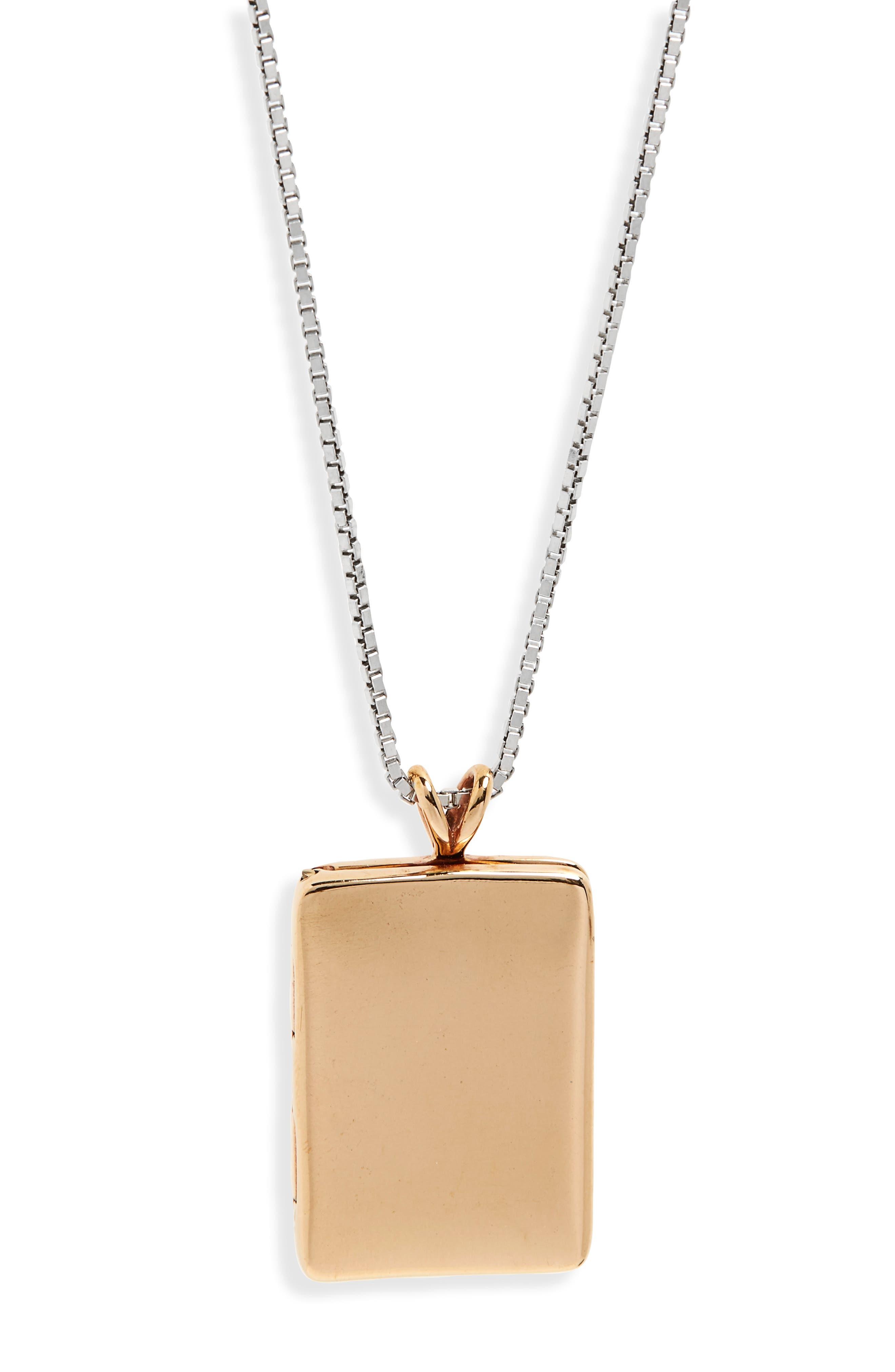 Bronze Locket Necklace,                         Main,                         color, 710