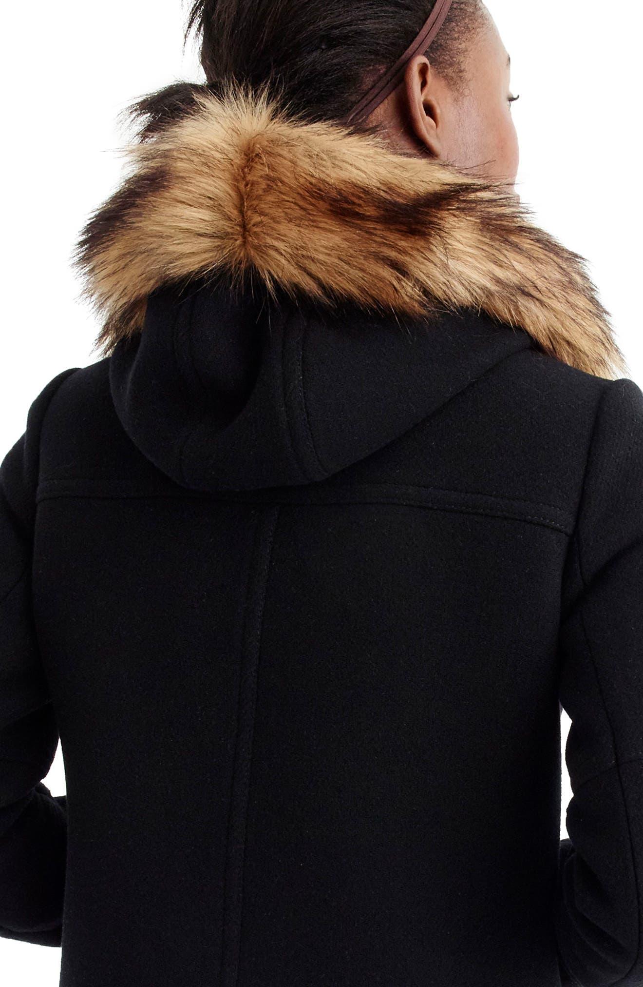 Chateau Stadium Cloth Parka with Faux Fur Trim,                             Alternate thumbnail 10, color,