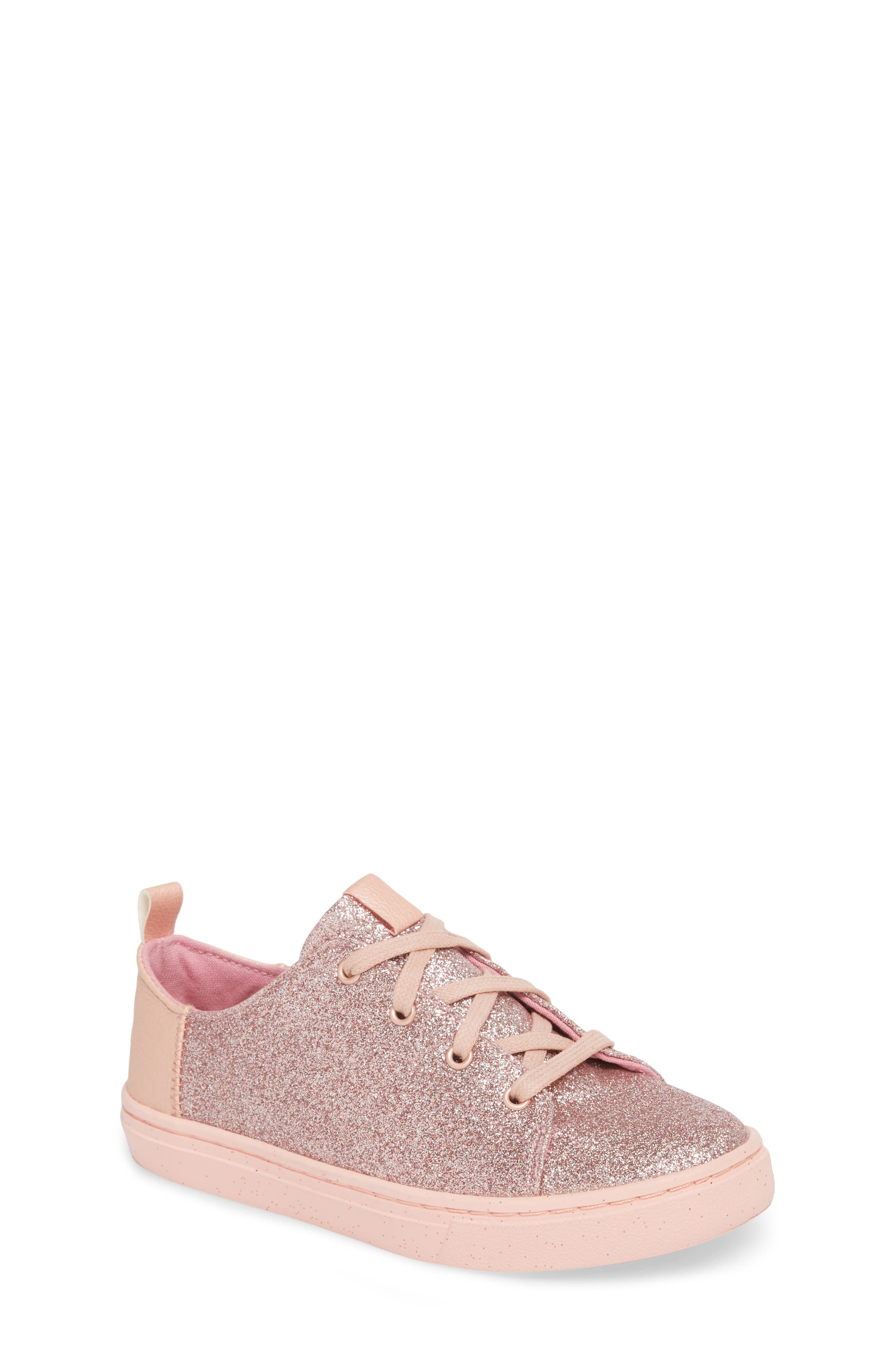 TOMS Lenny Metallic Glitter Sneaker, Main, color, 650